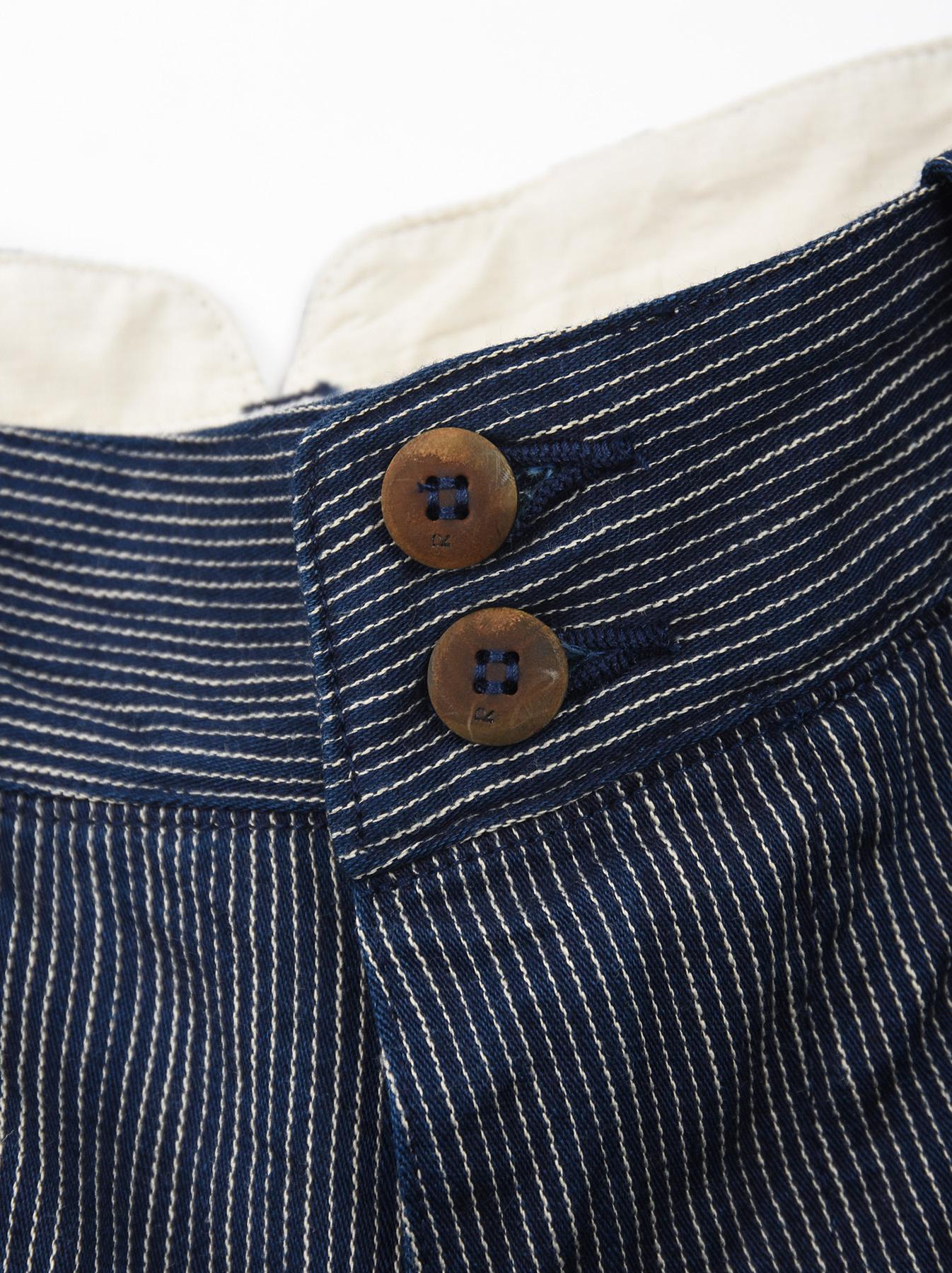 WH Indigo Mugi Yoko-shusi Work Pants-8
