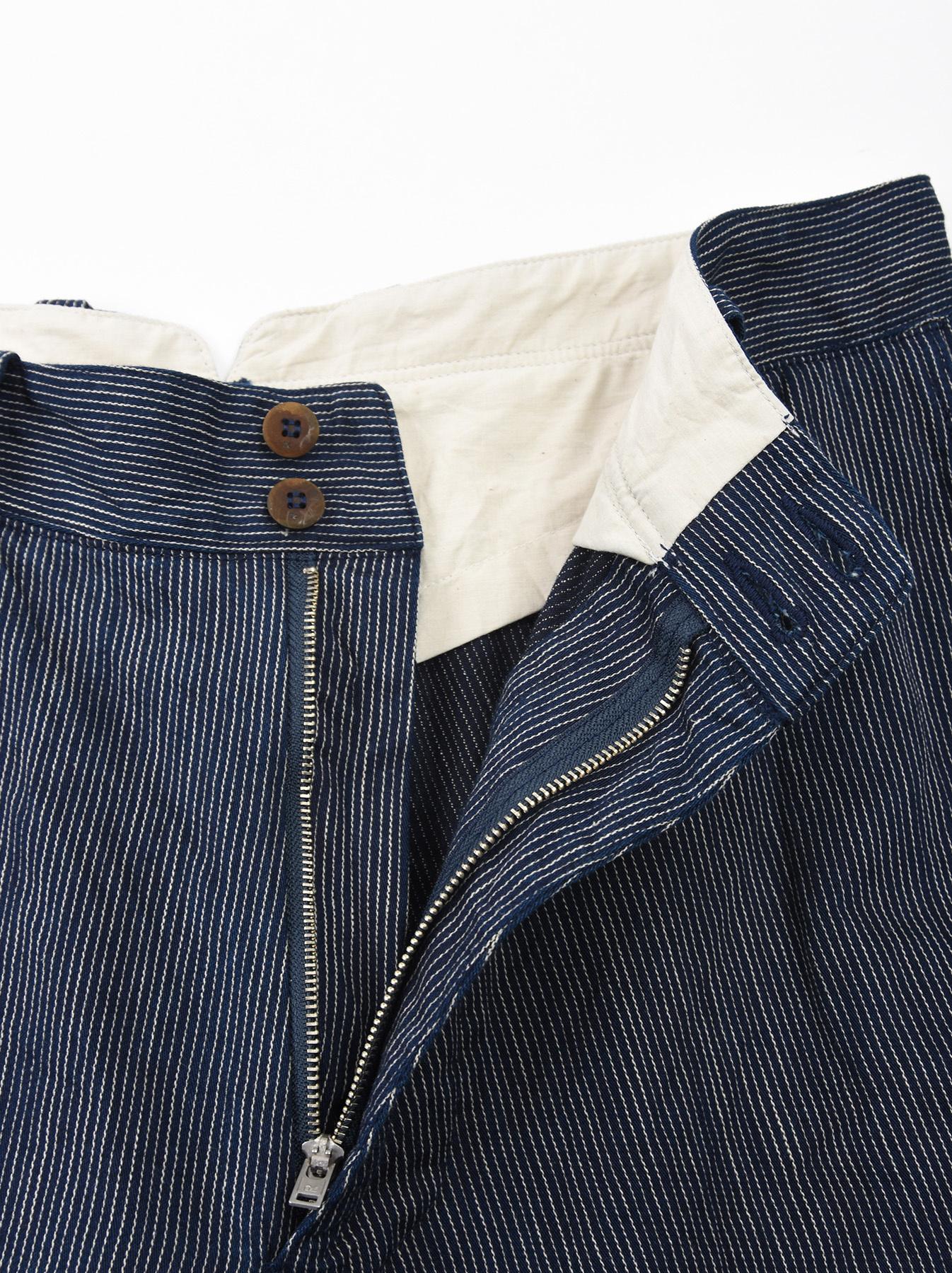 WH Indigo Mugi Yoko-shusi Work Pants-9