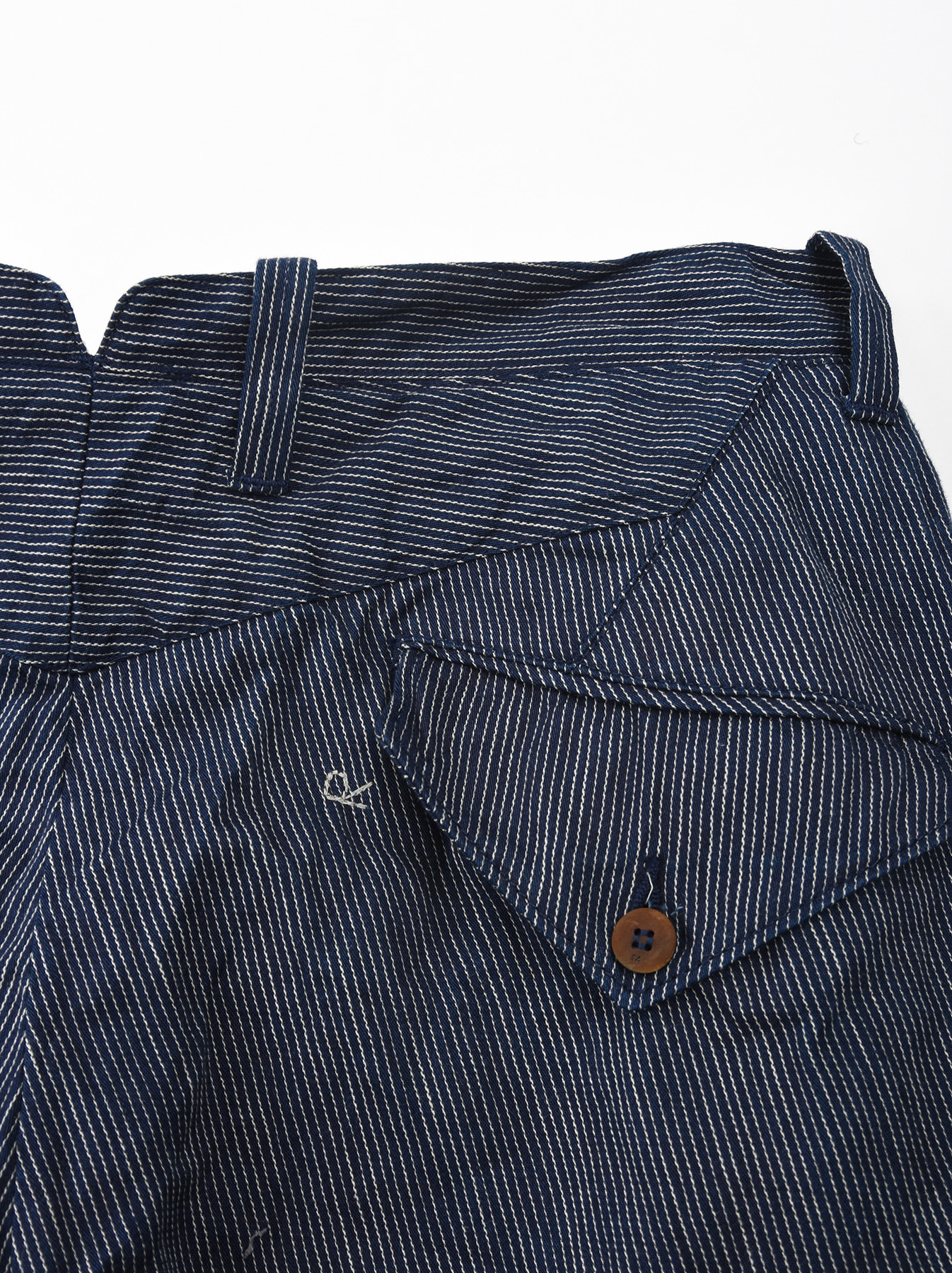 WH Indigo Mugi Yoko-shusi Work Pants-11