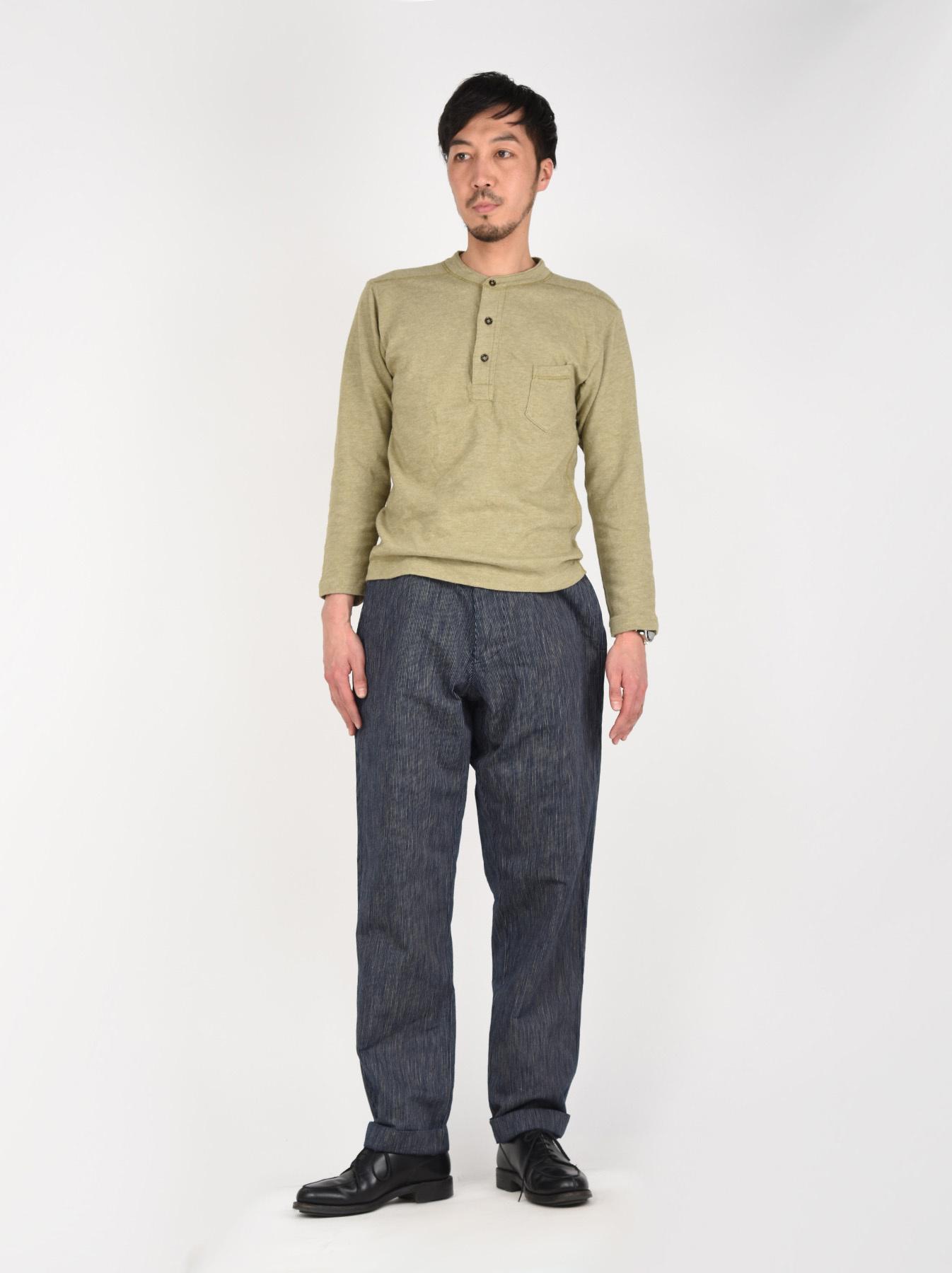 WH Indigo Mugi Yoko-shusi Work Pants-2