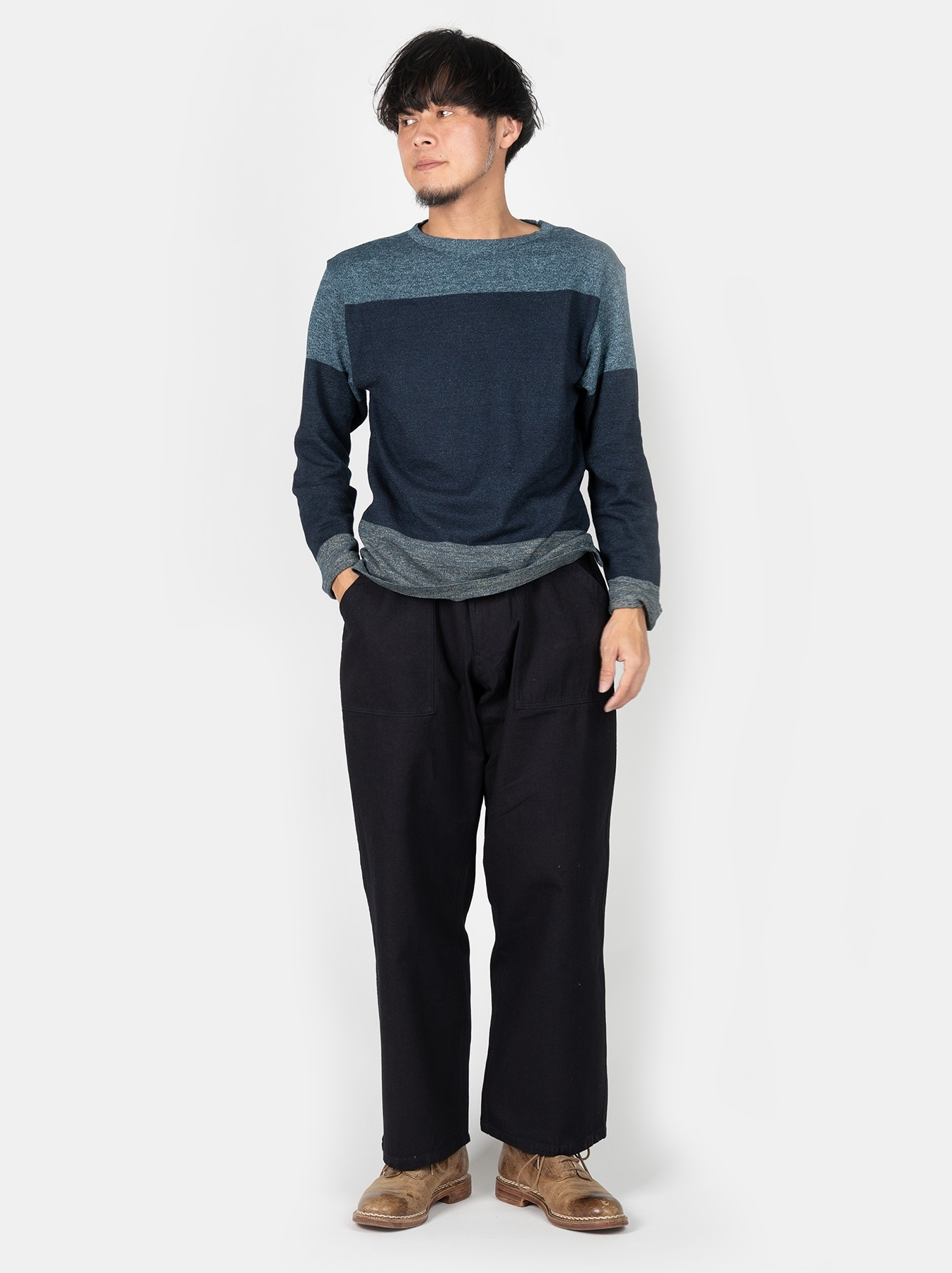 WH Gauze Basque Knit T-shirt-2