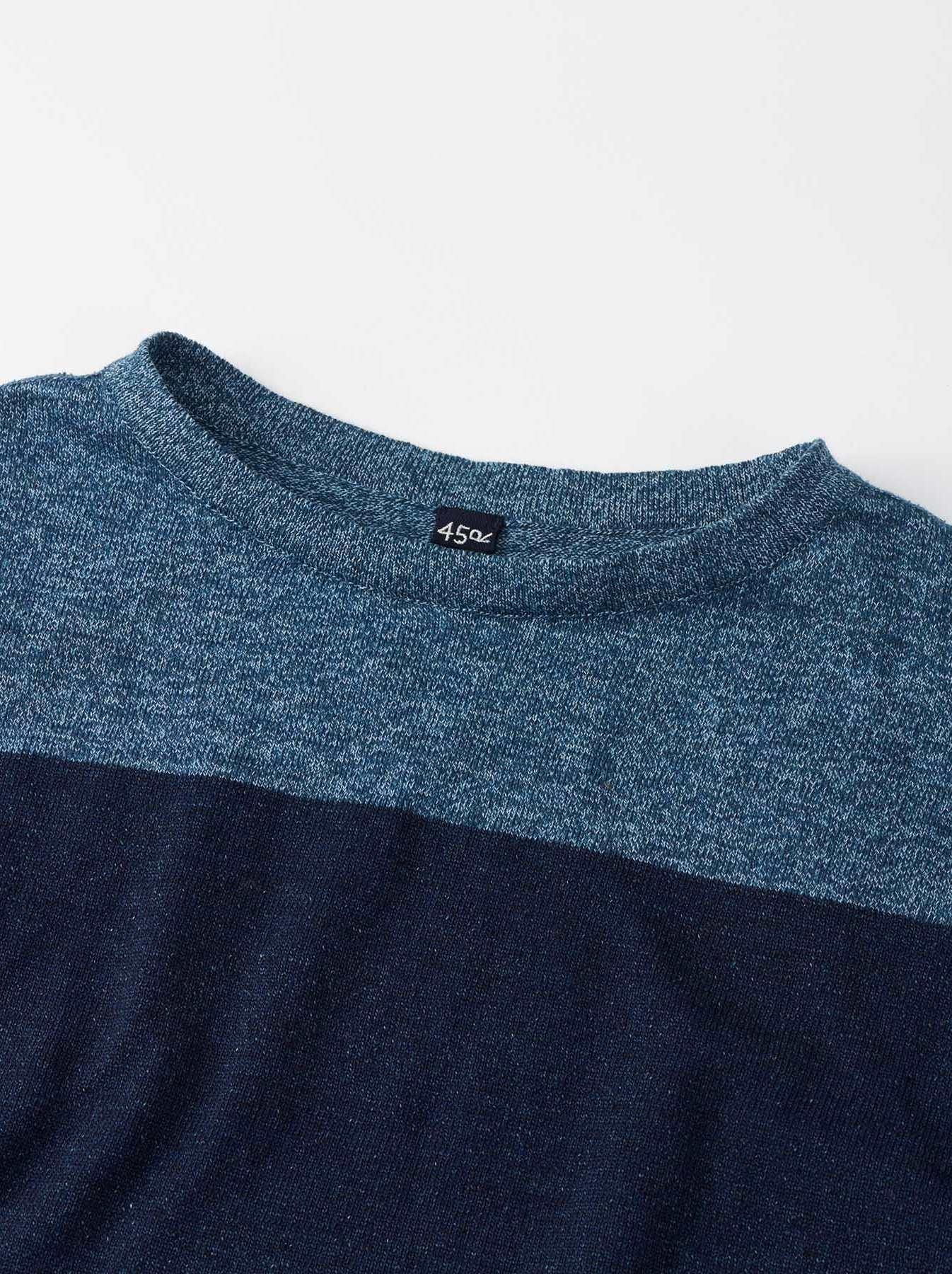 WH Gauze Basque Knit T-shirt-7