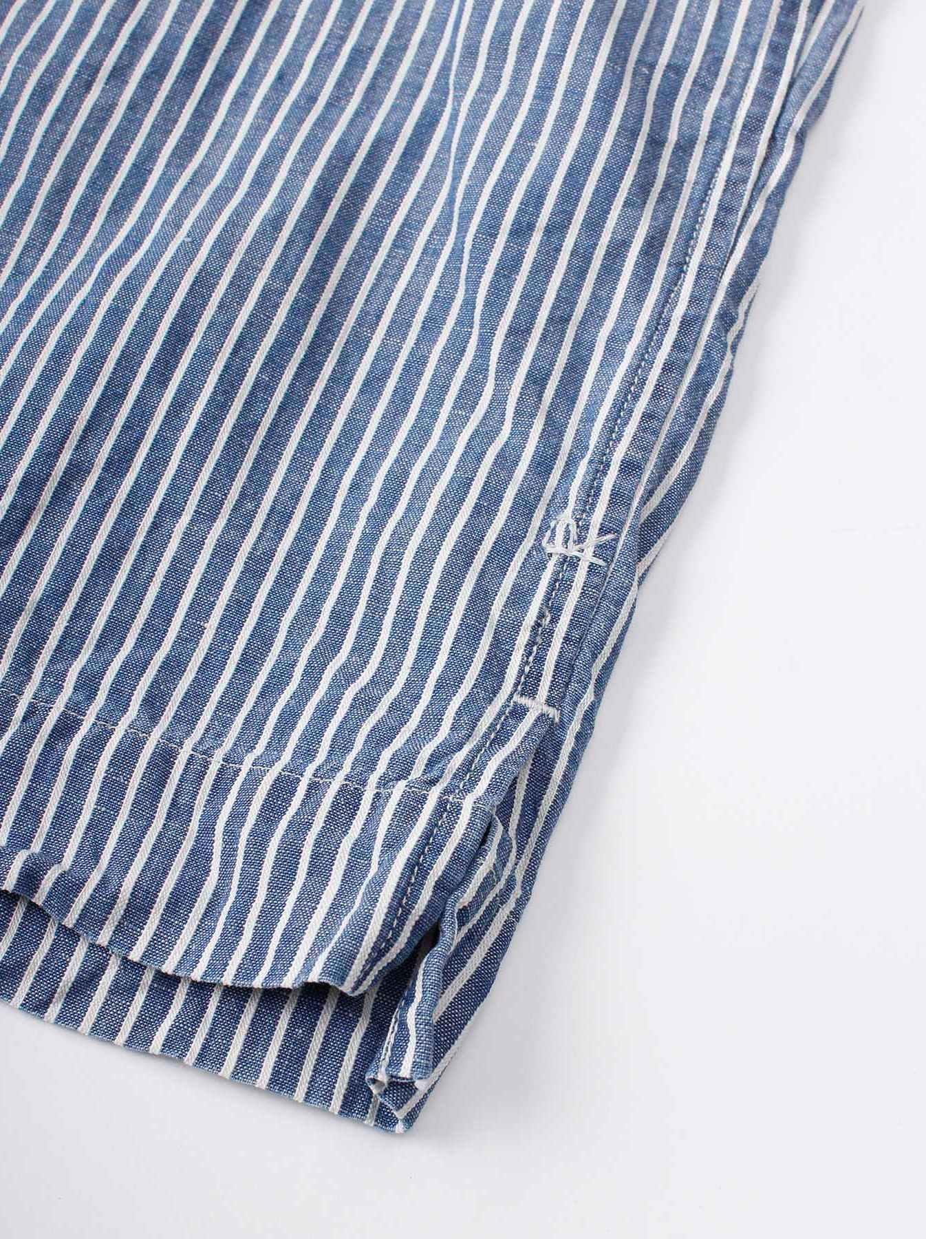 WH Cotton Linen Hickory Umahiko Pullover Shirt-10