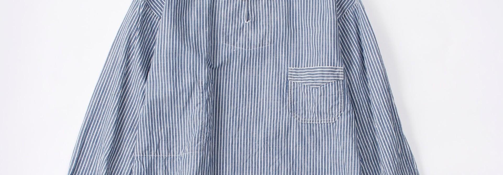 WH Cotton Linen Hickory Umahiko Pullover Shirt
