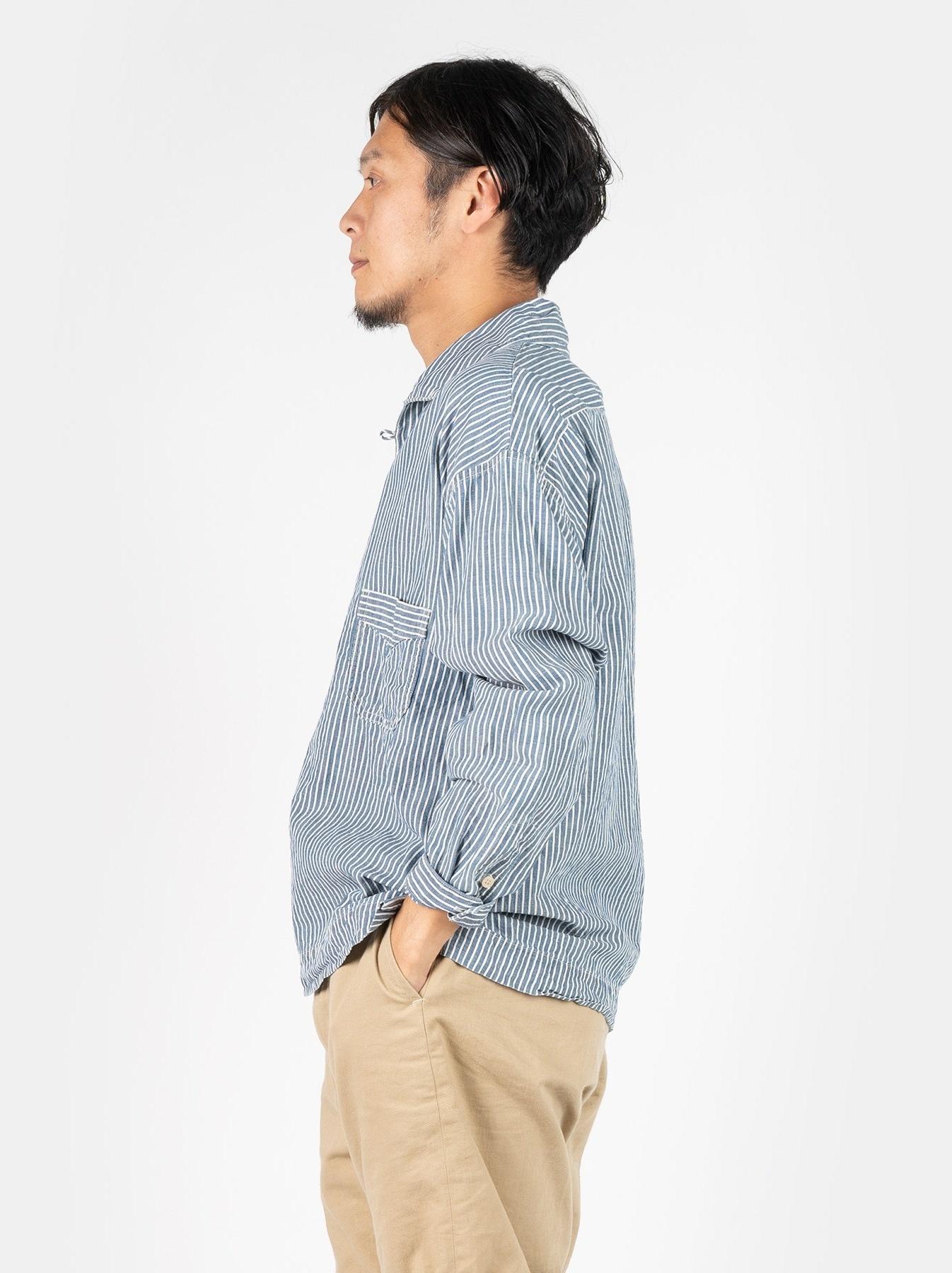 WH Cotton Linen Hickory Umahiko Pullover Shirt-4