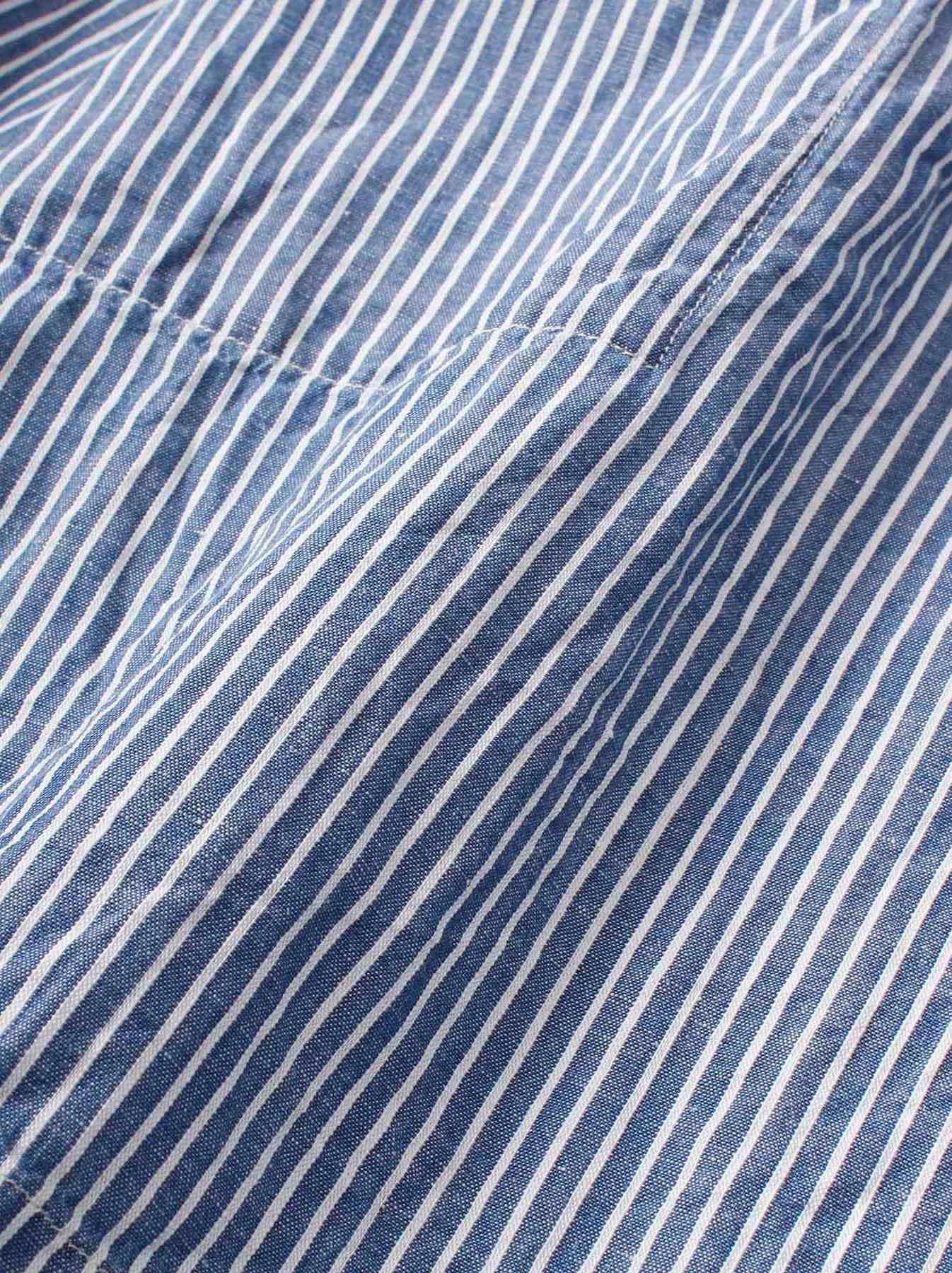 WH Cotton Linen Hickory Umahiko Pullover Shirt-11