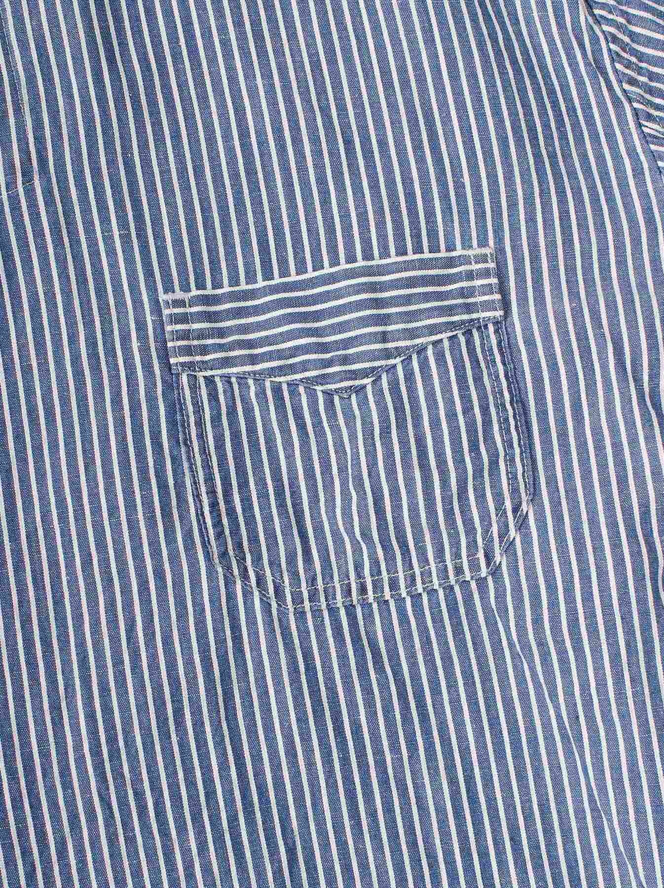 WH Cotton Linen Hickory Umahiko Pullover Shirt-7