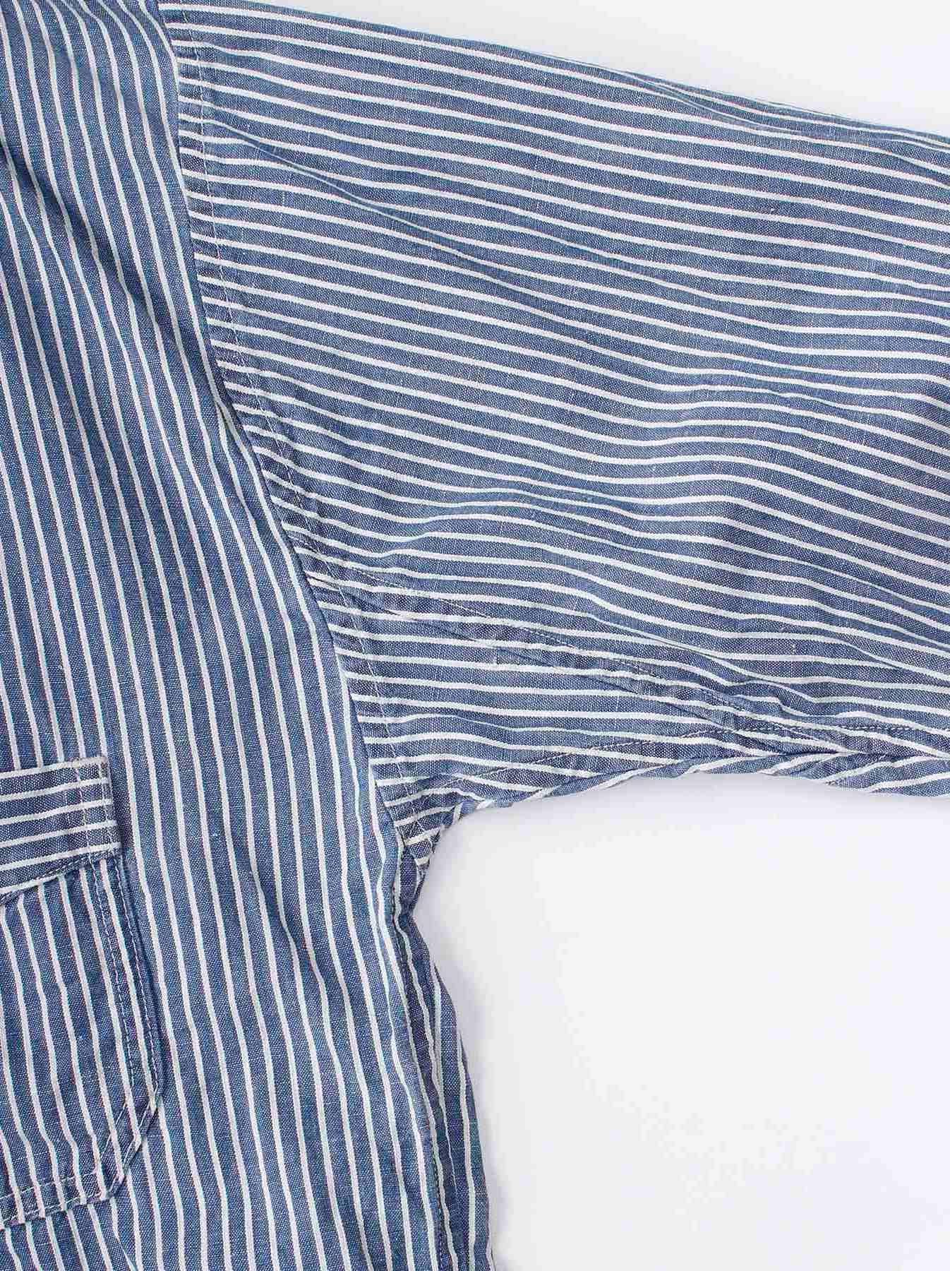 WH Cotton Linen Hickory Umahiko Pullover Shirt-8