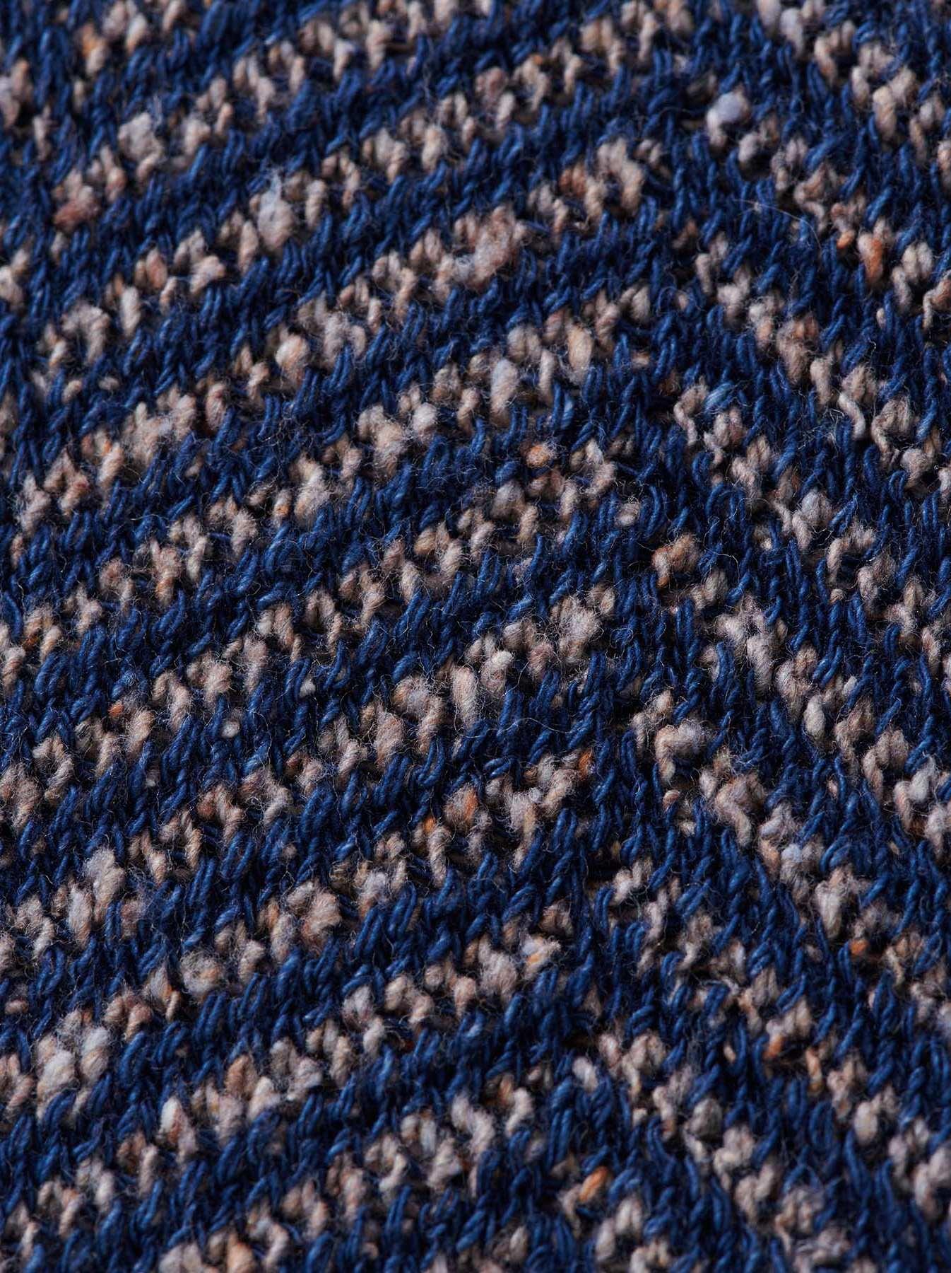 Indigo Cotton Tweed Knit Jacket-6