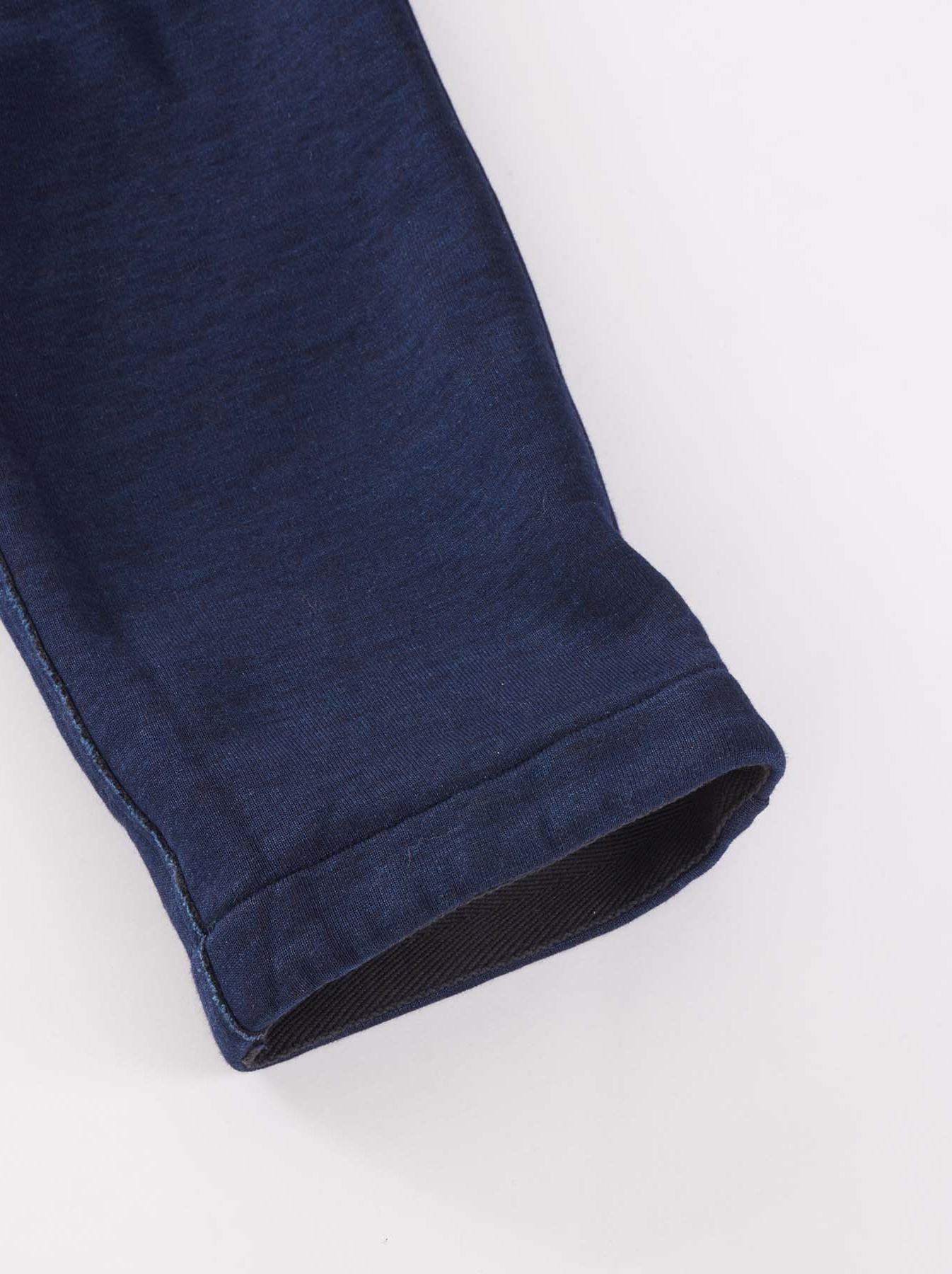 Indigo Mouton Fleecy Easy Pants-9