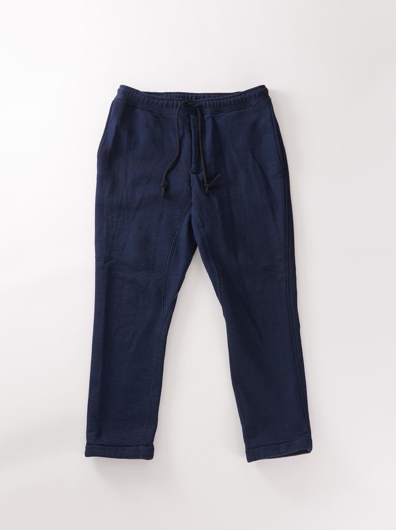 Indigo Mouton Fleecy Easy Pants-1