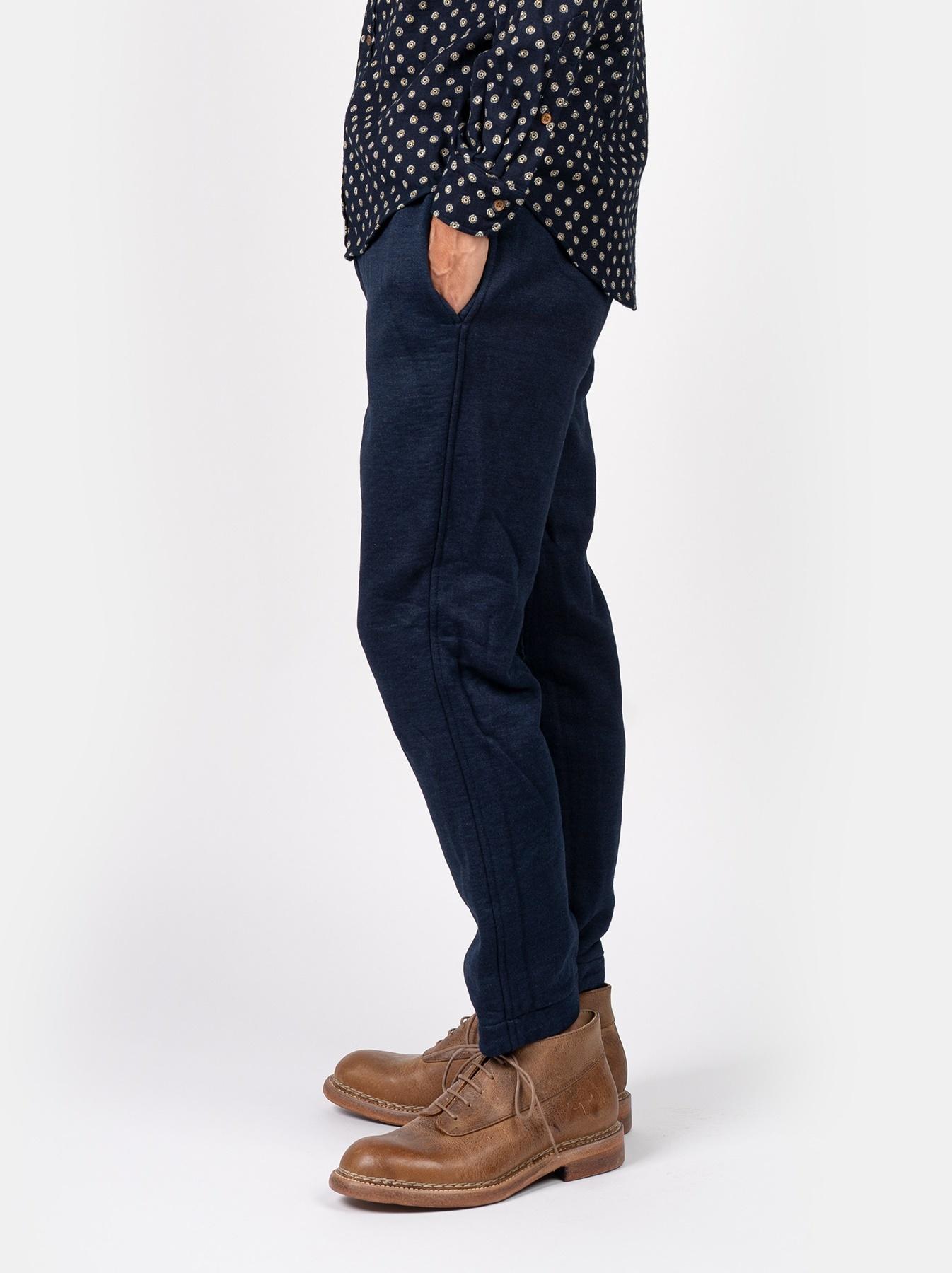 Indigo Mouton Fleecy Easy Pants-4