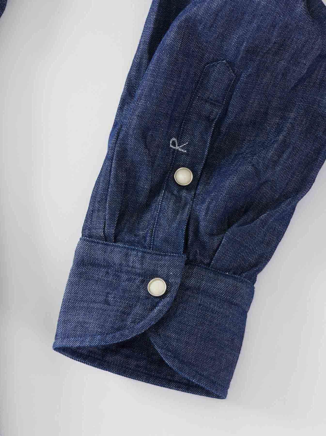 Goma Denim Stand Collar Eastern Shirt-11