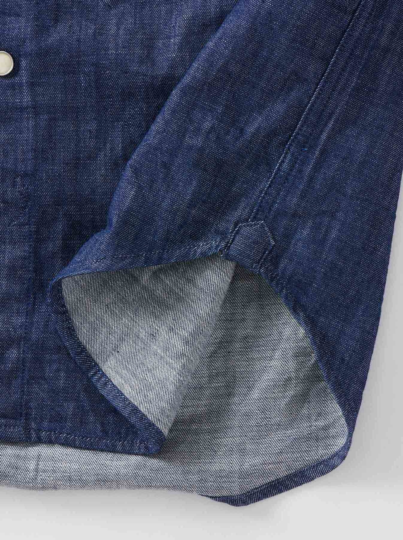 Goma Denim Stand Collar Eastern Shirt-10