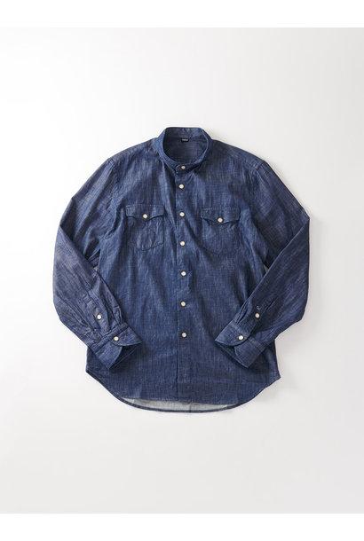 Goma Denim Stand Collar Eastern Shirt