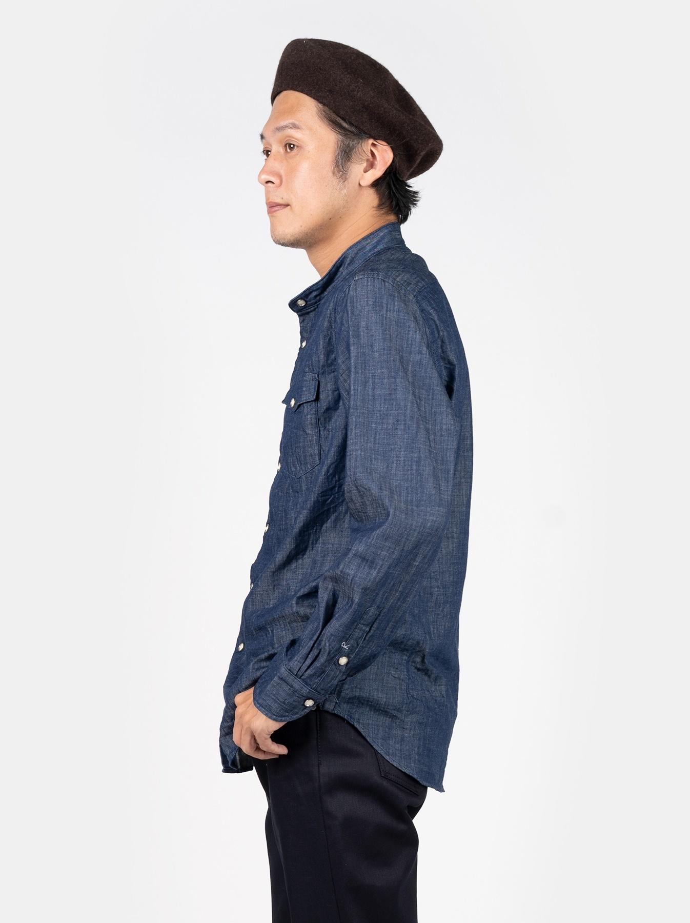 Goma Denim Stand Collar Eastern Shirt-4
