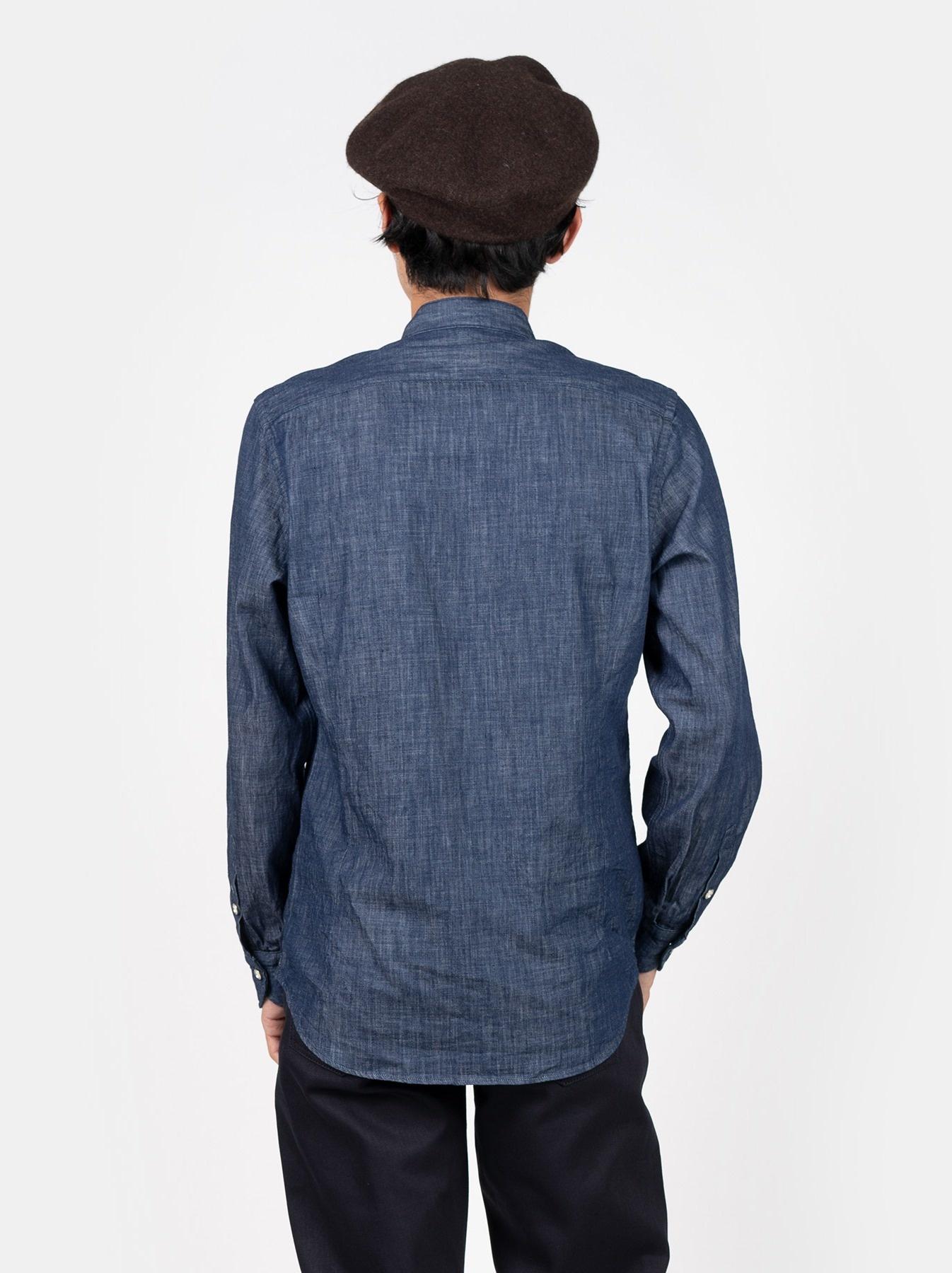 Goma Denim Stand Collar Eastern Shirt-5