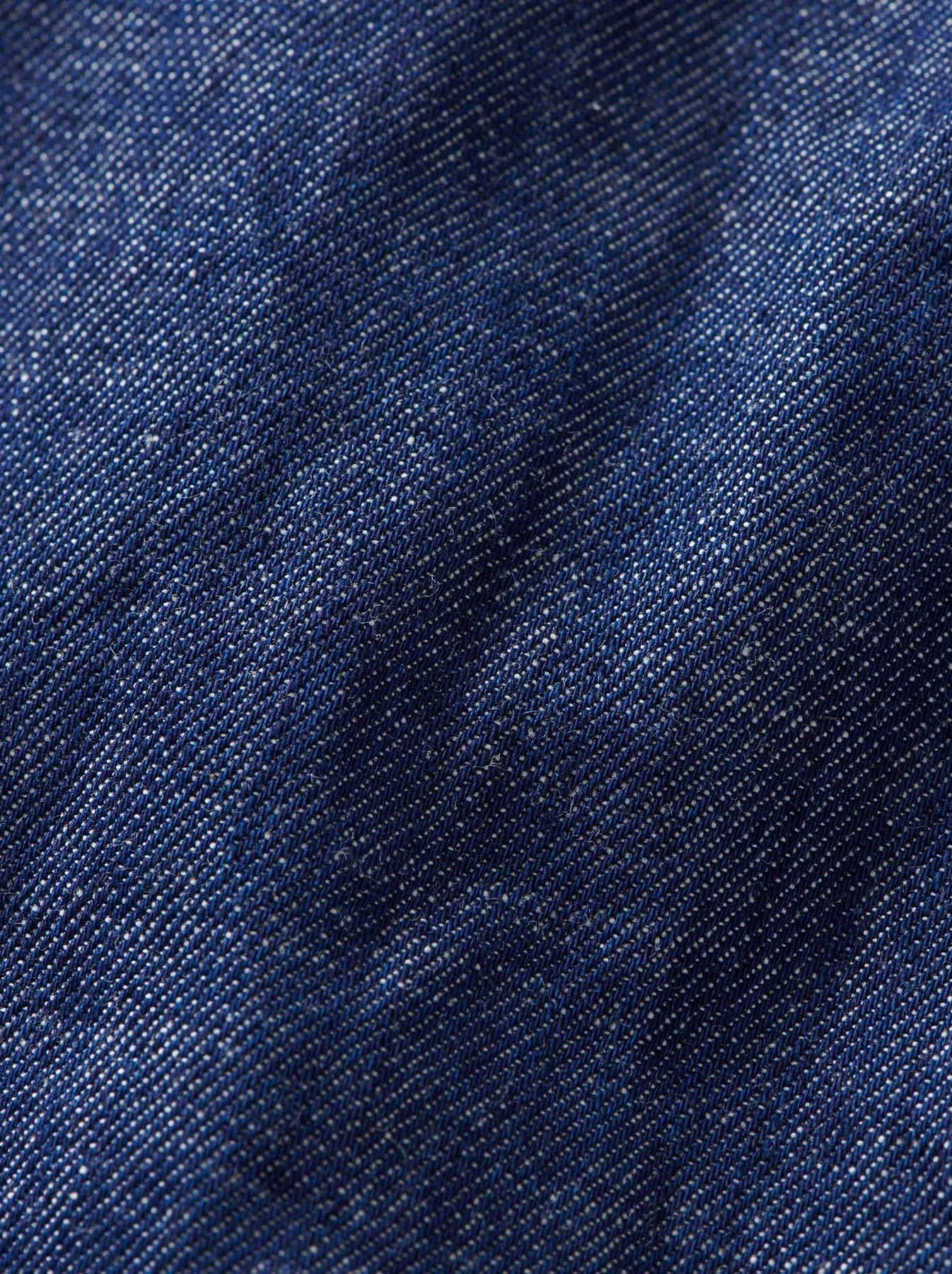 Goma Denim Stand Collar Eastern Shirt-12