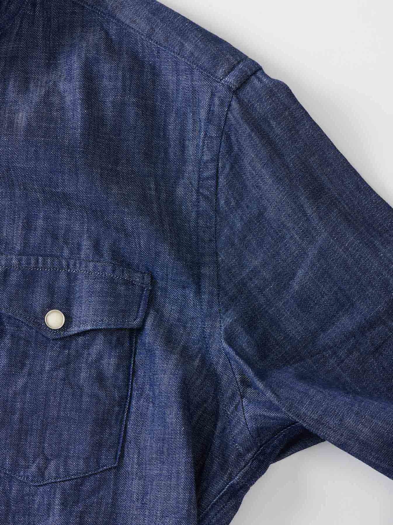 Goma Denim Stand Collar Eastern Shirt-9