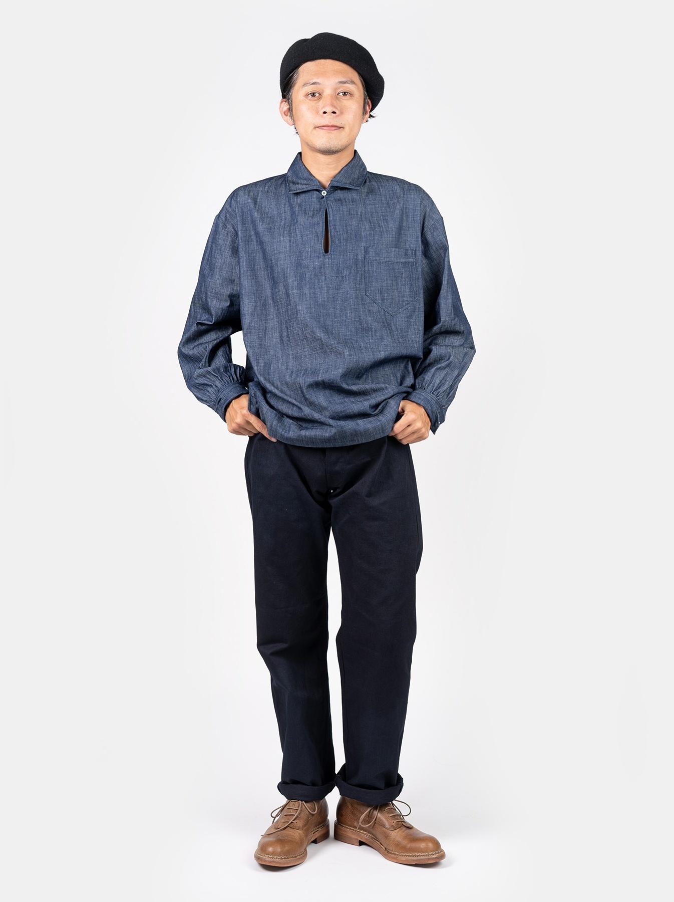 WH Goma Denim Umahiko Pullover Shirt-2