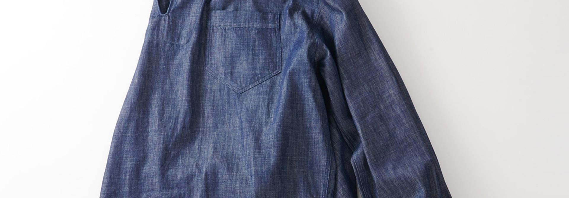 WH Goma Denim Umahiko Pullover Shirt