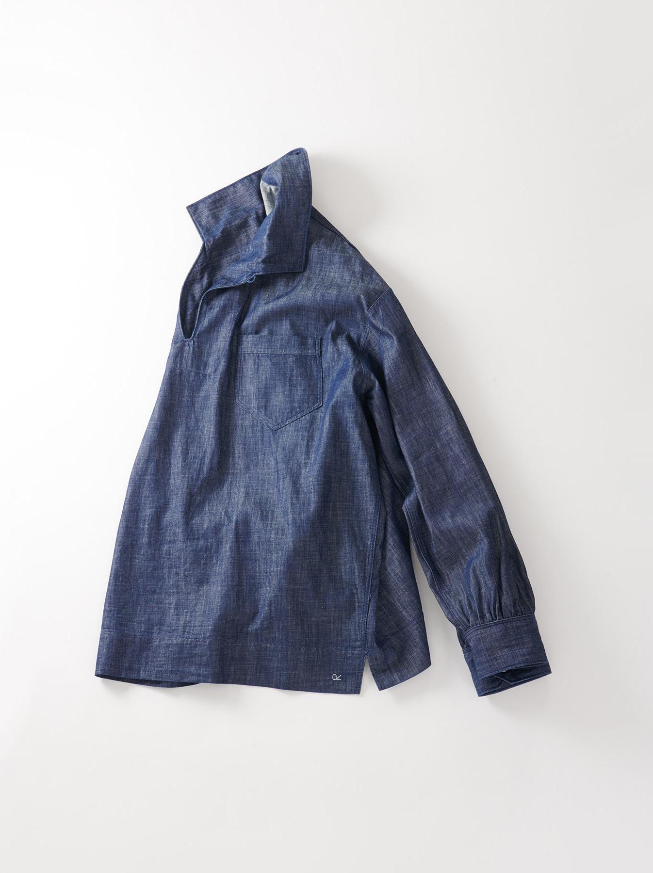 WH Goma Denim Umahiko Pullover Shirt-1