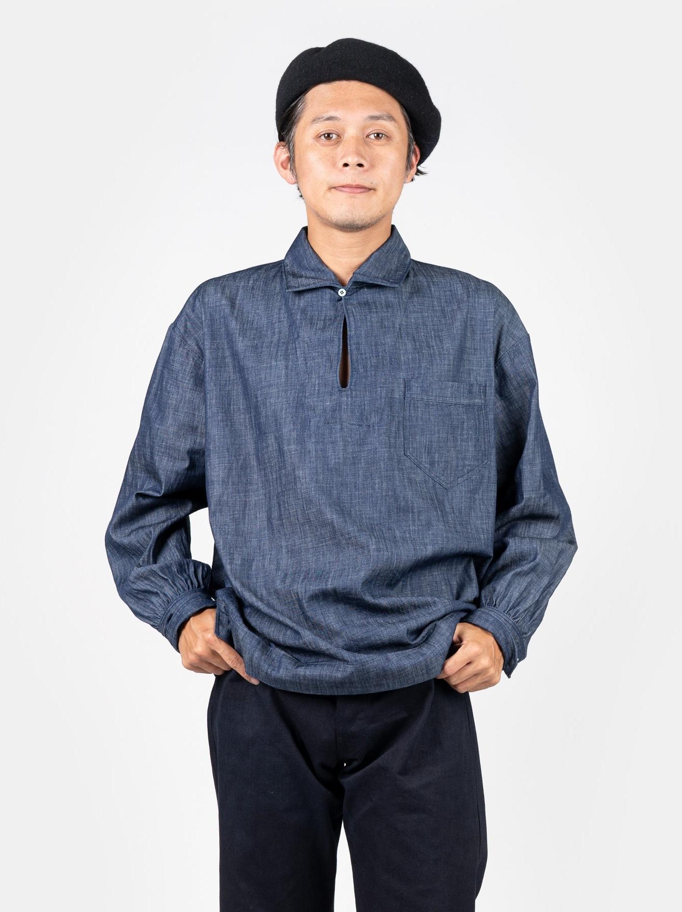 WH Goma Denim Umahiko Pullover Shirt-3
