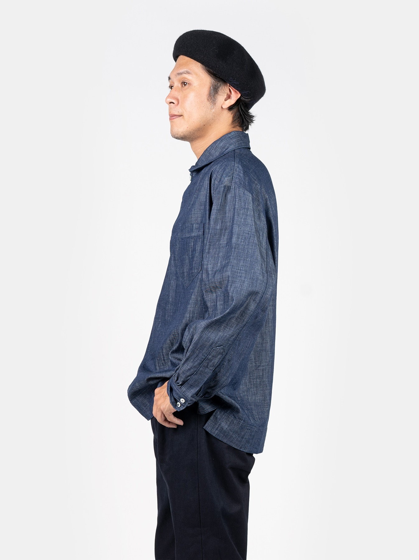 WH Goma Denim Umahiko Pullover Shirt-4