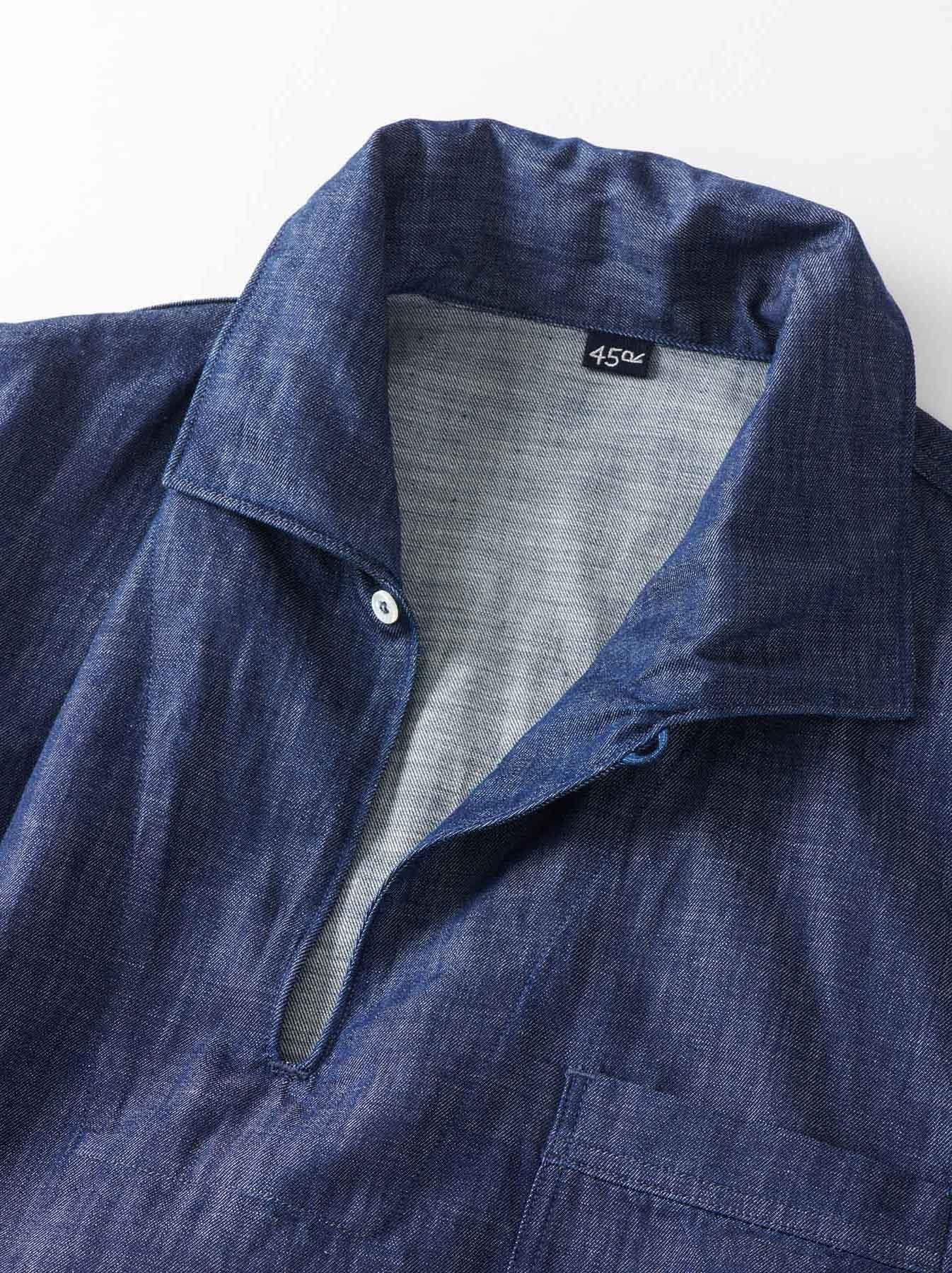 WH Goma Denim Umahiko Pullover Shirt-6