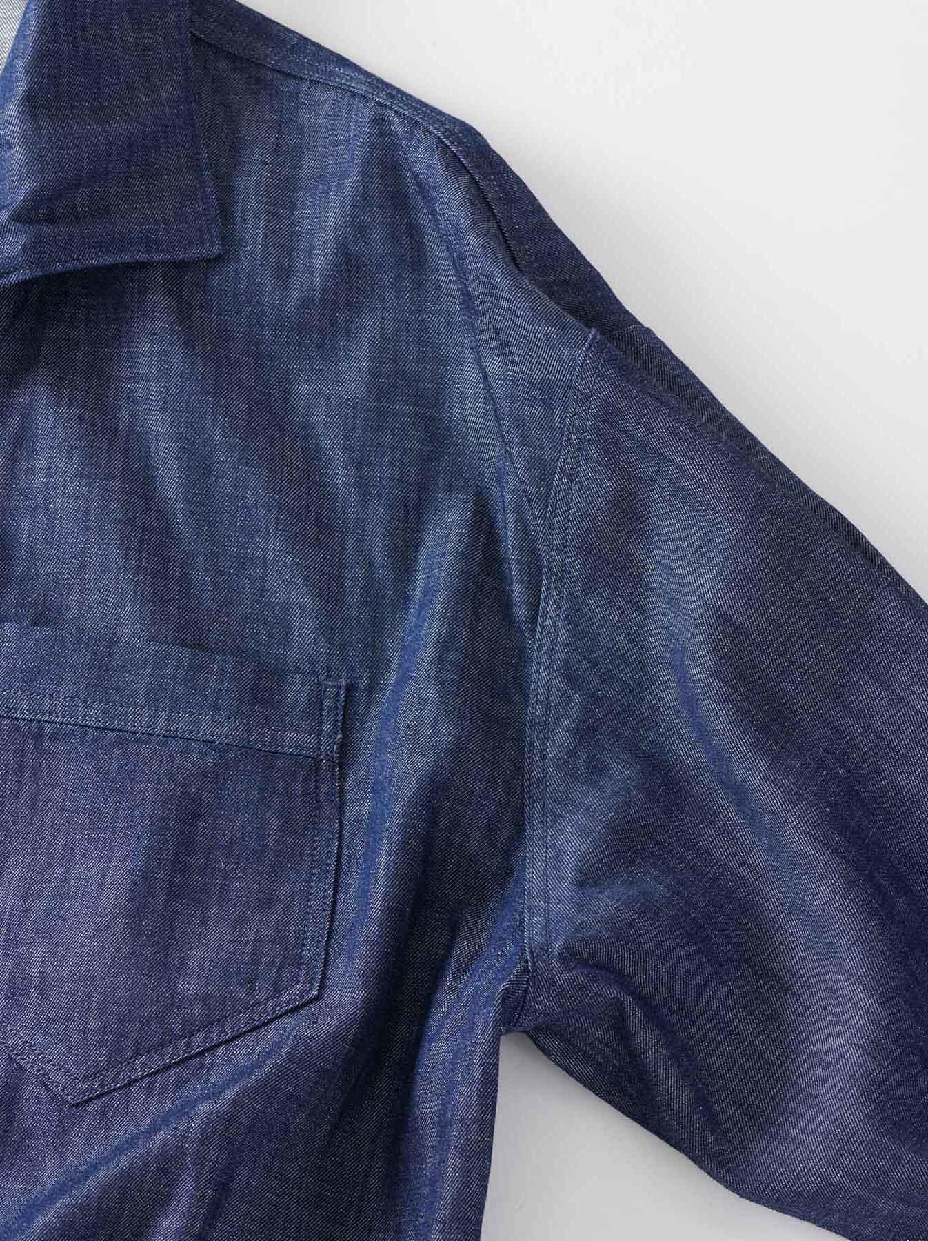 WH Goma Denim Umahiko Pullover Shirt-7