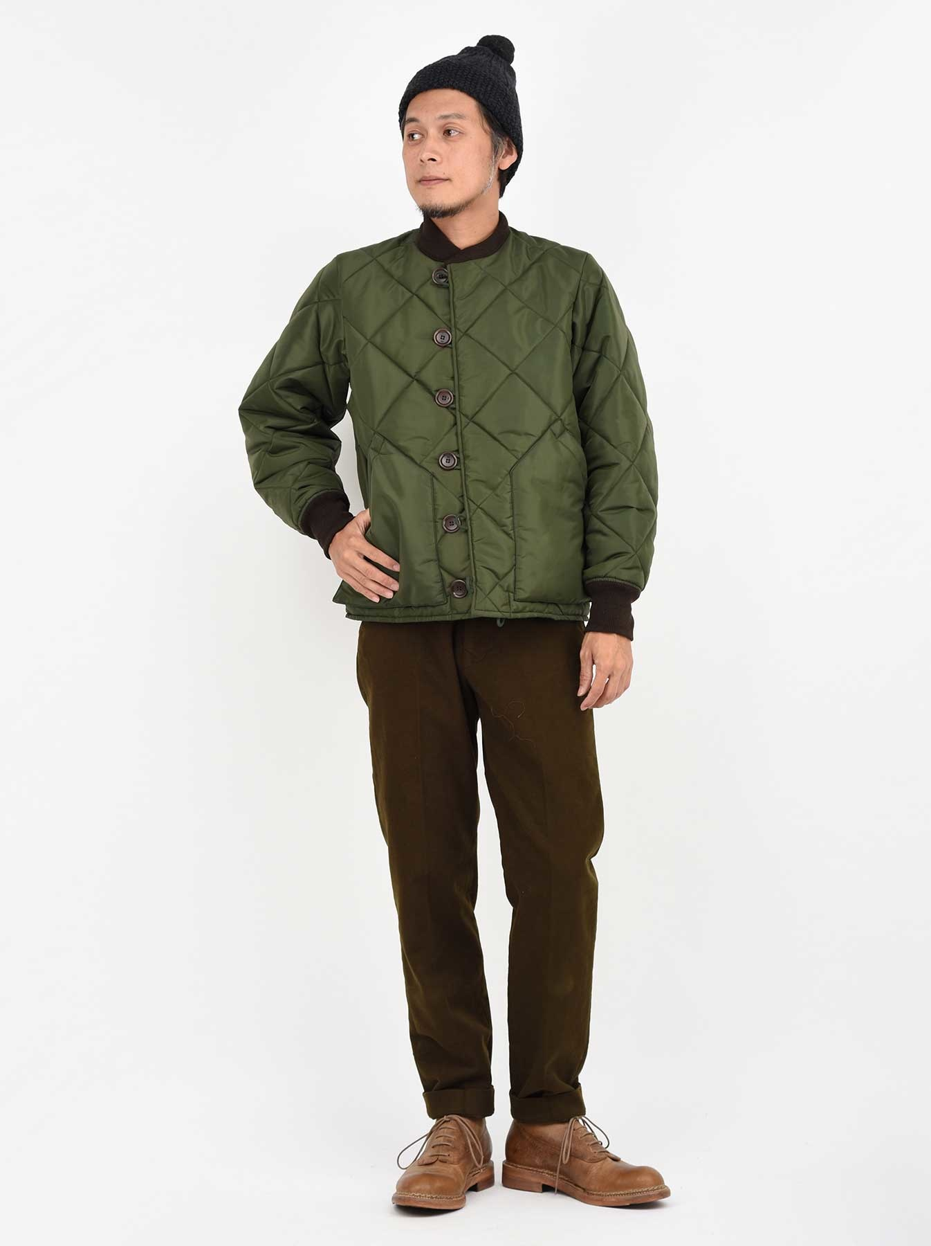 WH Thick Nylon Quilted Bomber Jacket-2