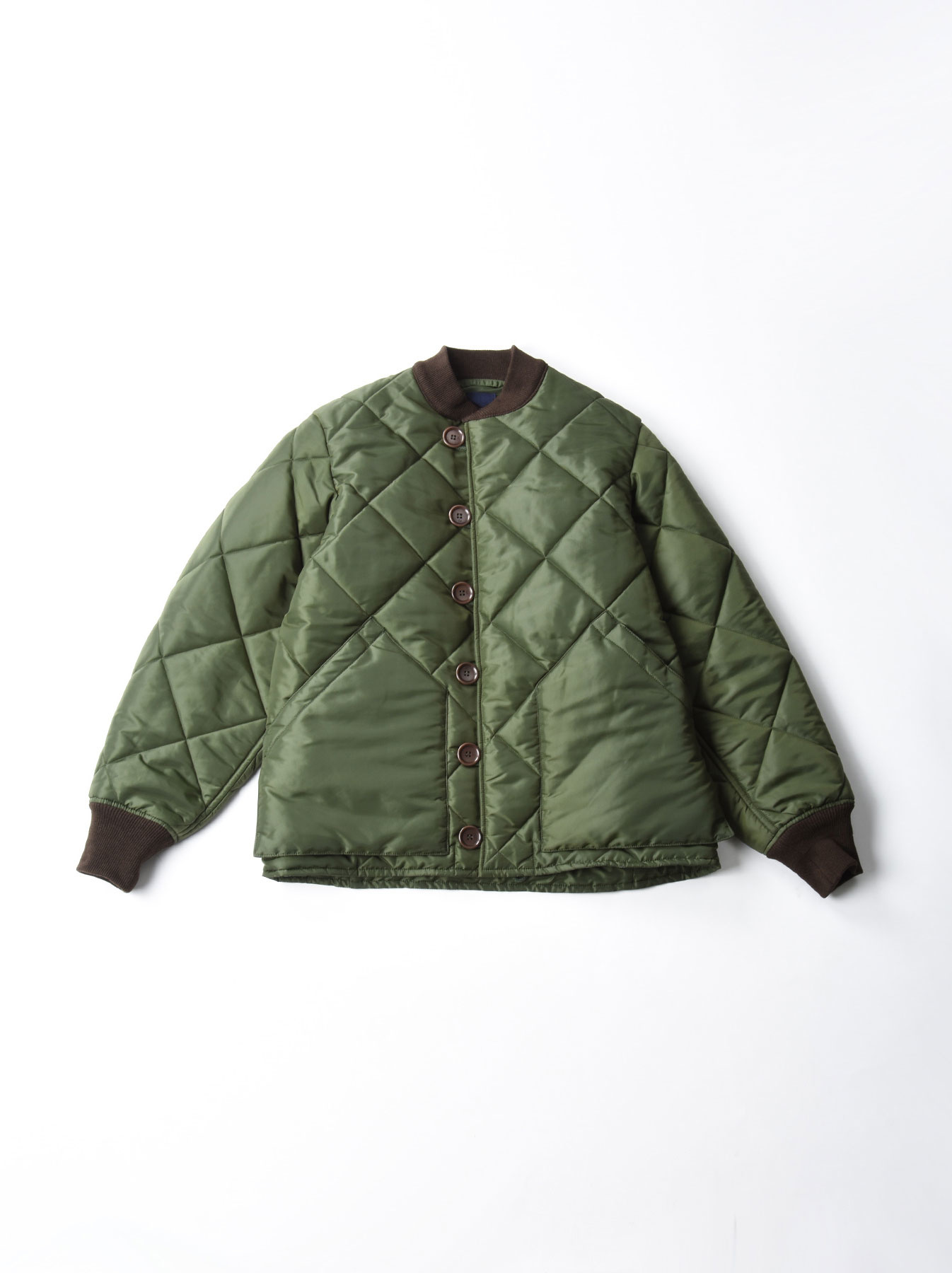 WH Thick Nylon Quilted Bomber Jacket-6