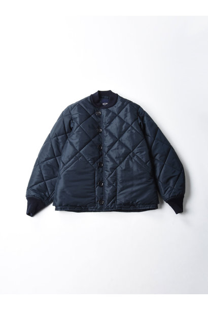 WH Thick Nylon Quilted Bomber Jacket