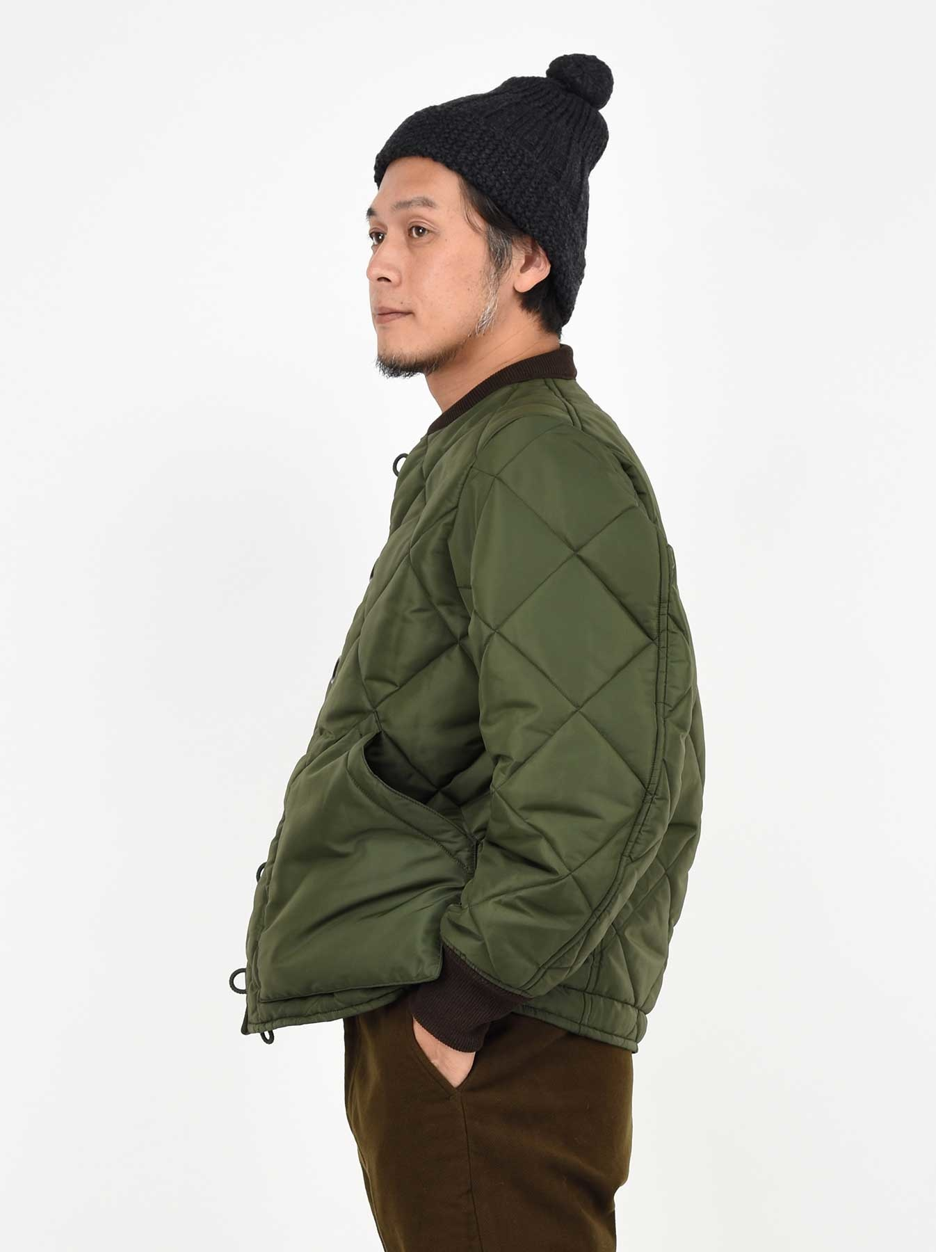 WH Thick Nylon Quilted Bomber Jacket-4