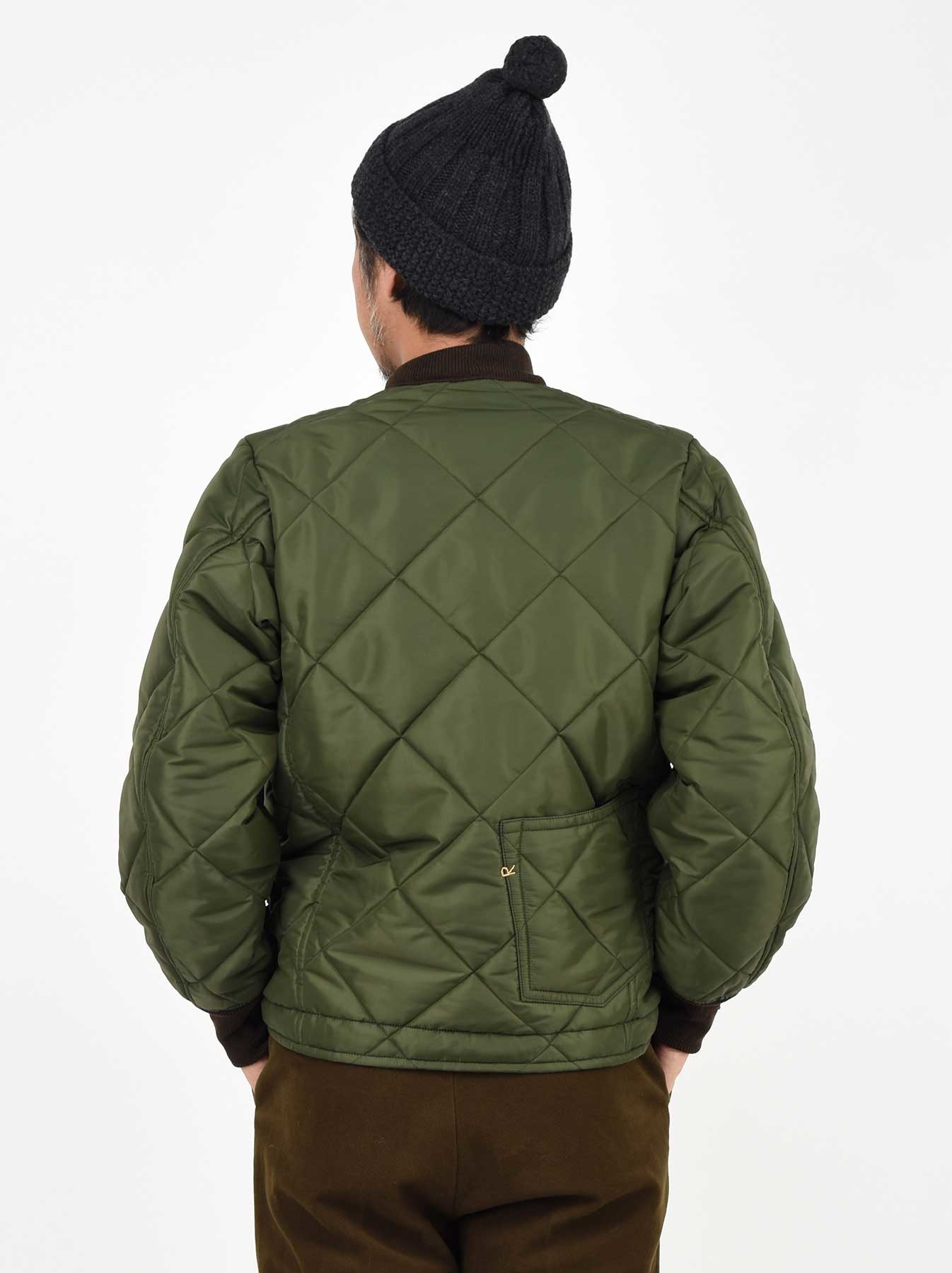 WH Thick Nylon Quilted Bomber Jacket-5