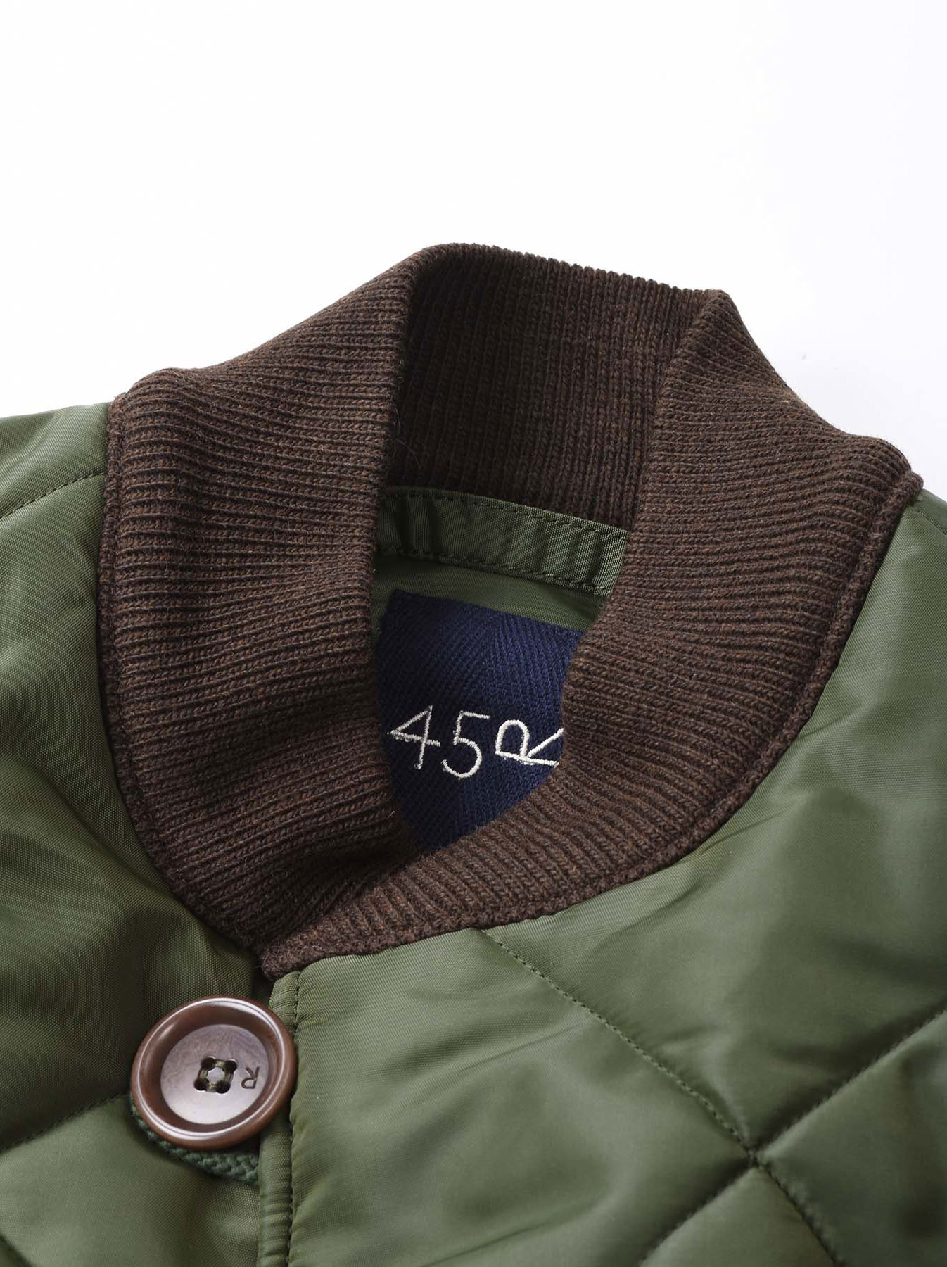 WH Thick Nylon Quilted Bomber Jacket-8