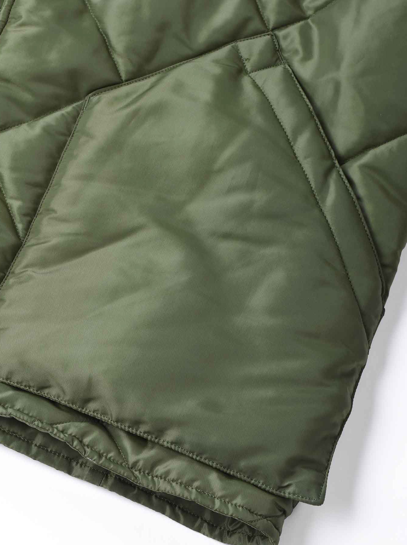 WH Thick Nylon Quilted Bomber Jacket-10