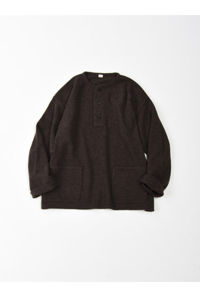 WH Boiled Wool Henley Sweater