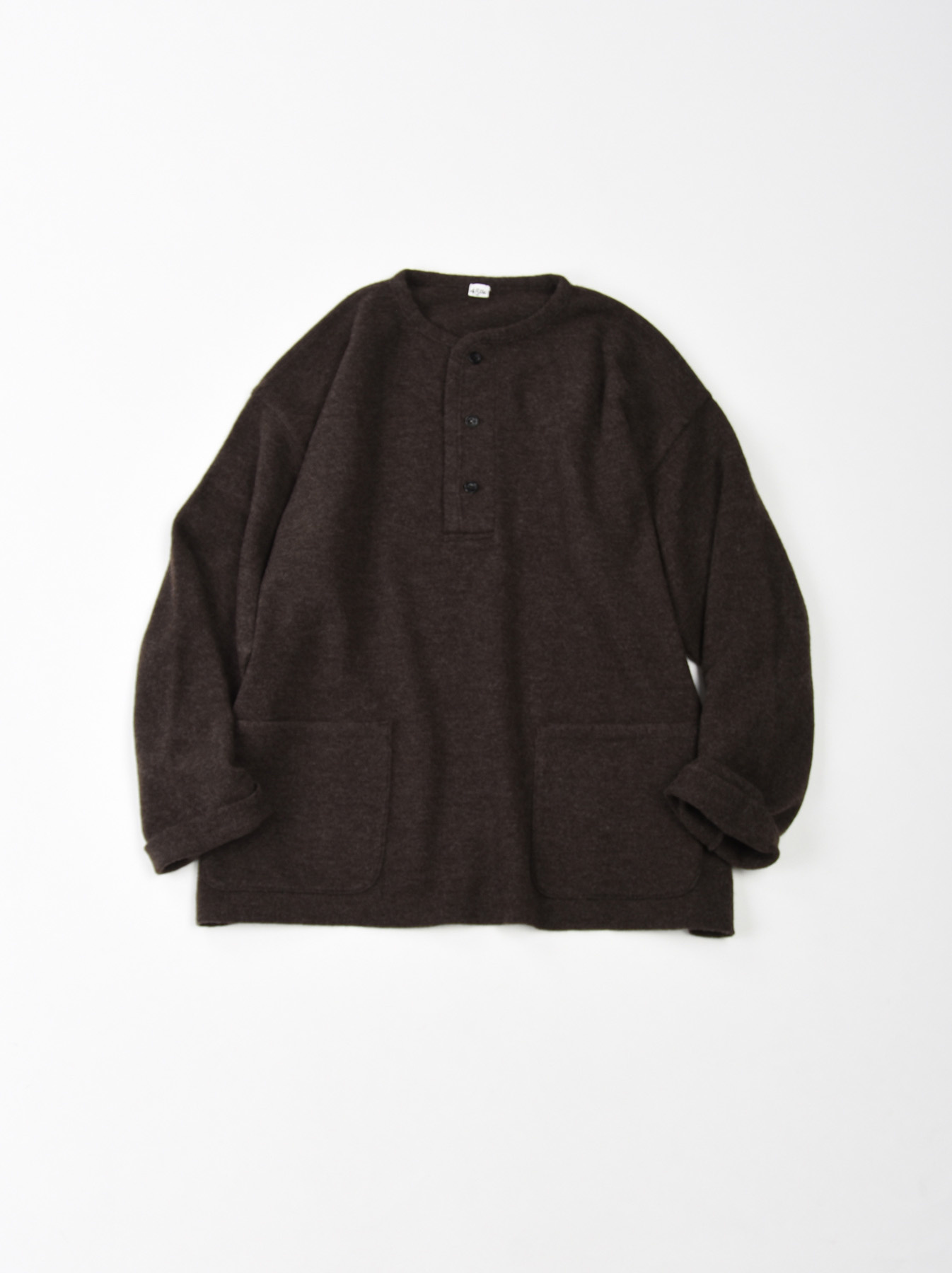 WH Boiled Wool Henley Sweater-1