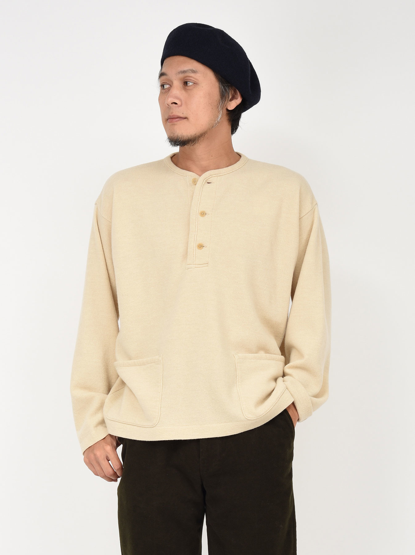 WH Boiled Wool Henley Sweater-5