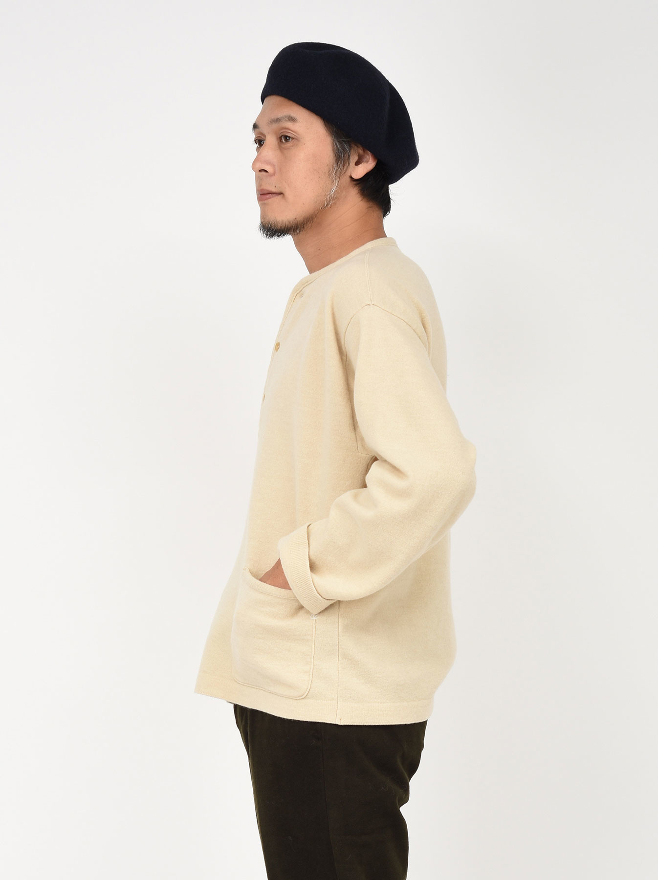 WH Boiled Wool Henley Sweater-6