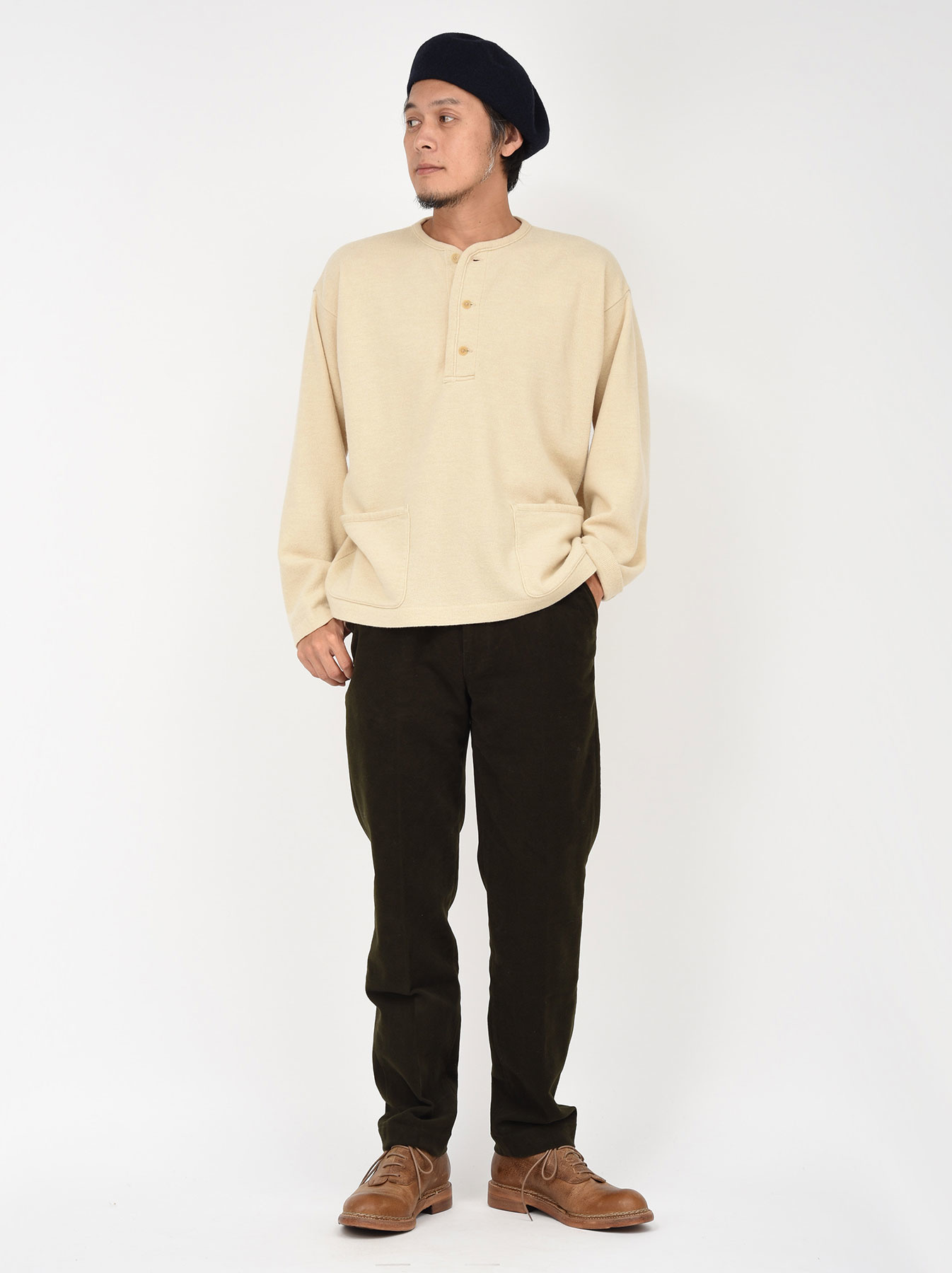 WH Boiled Wool Henley Sweater-2