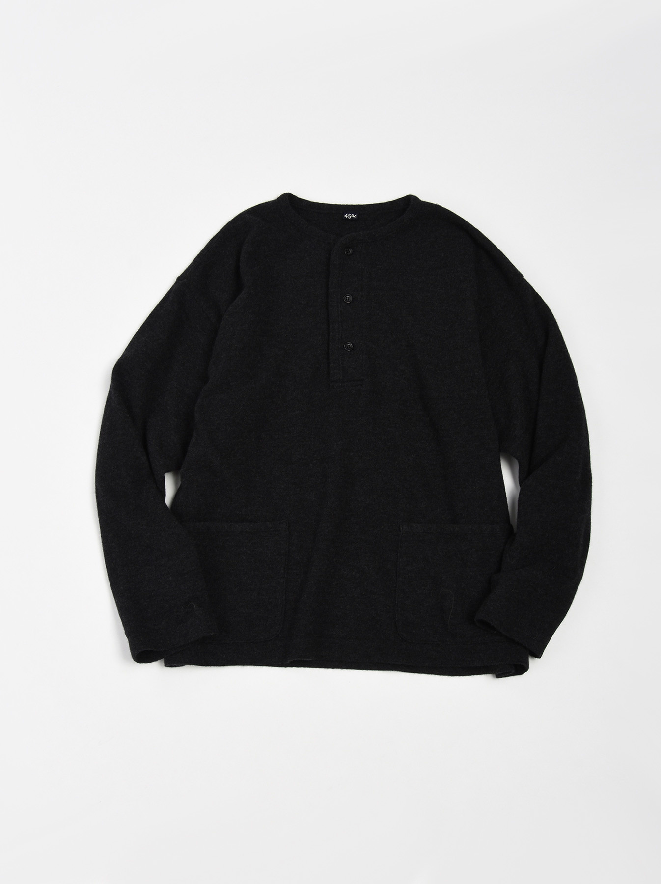 WH Boiled Wool Henley Sweater-3
