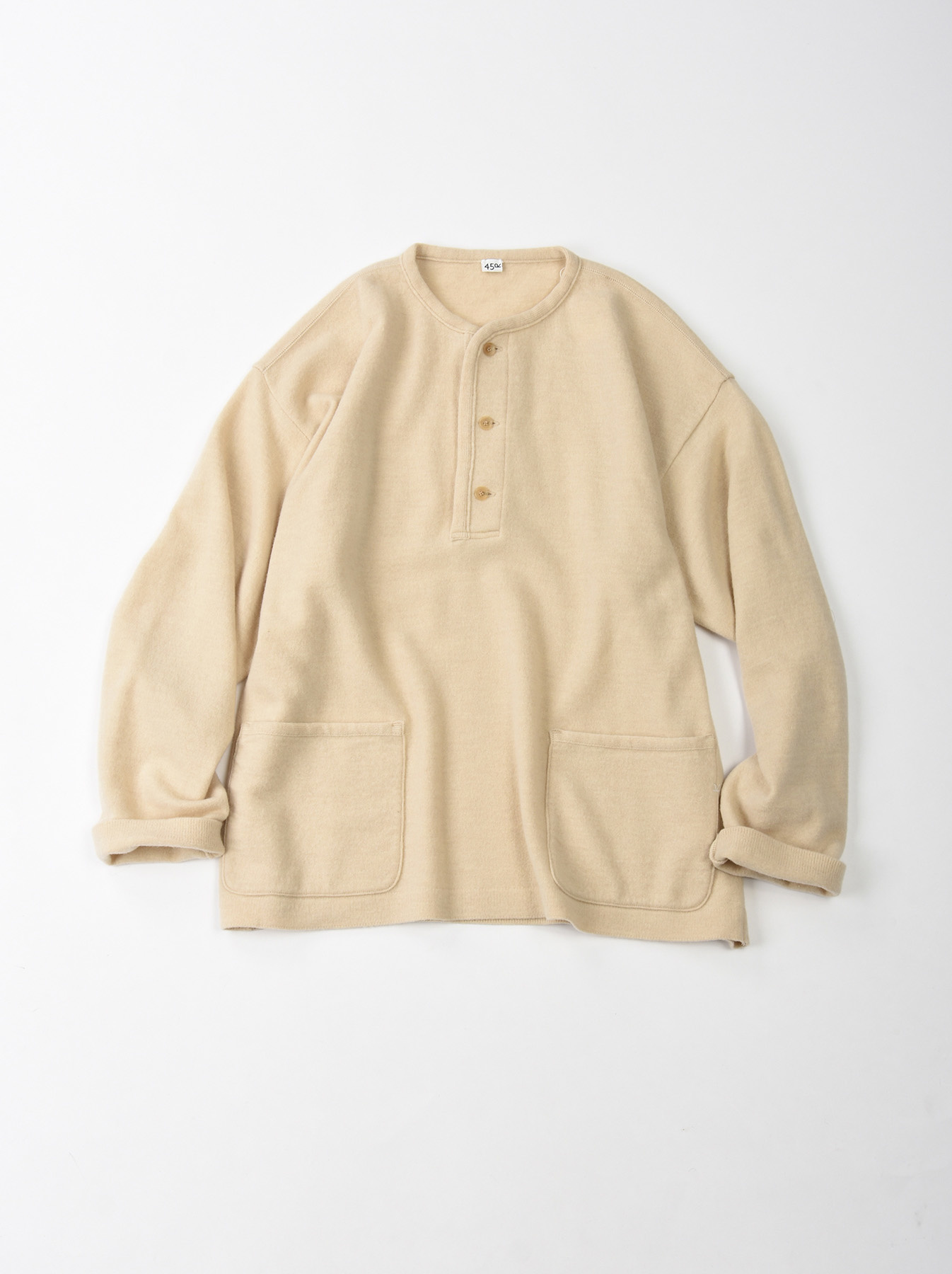 WH Boiled Wool Henley Sweater-4