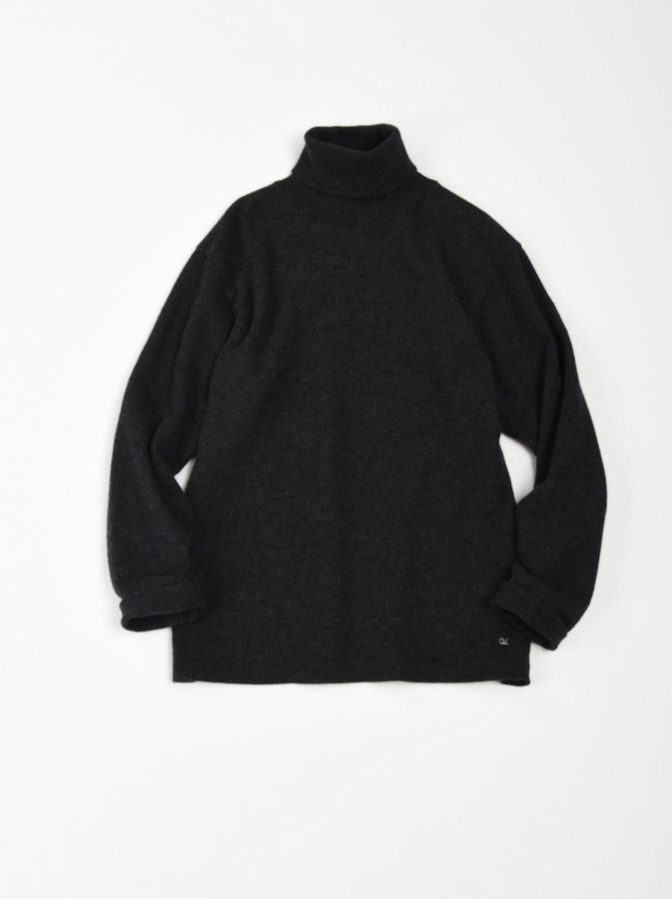 WH Boiled Wool Tenjiku Turtleneck-2