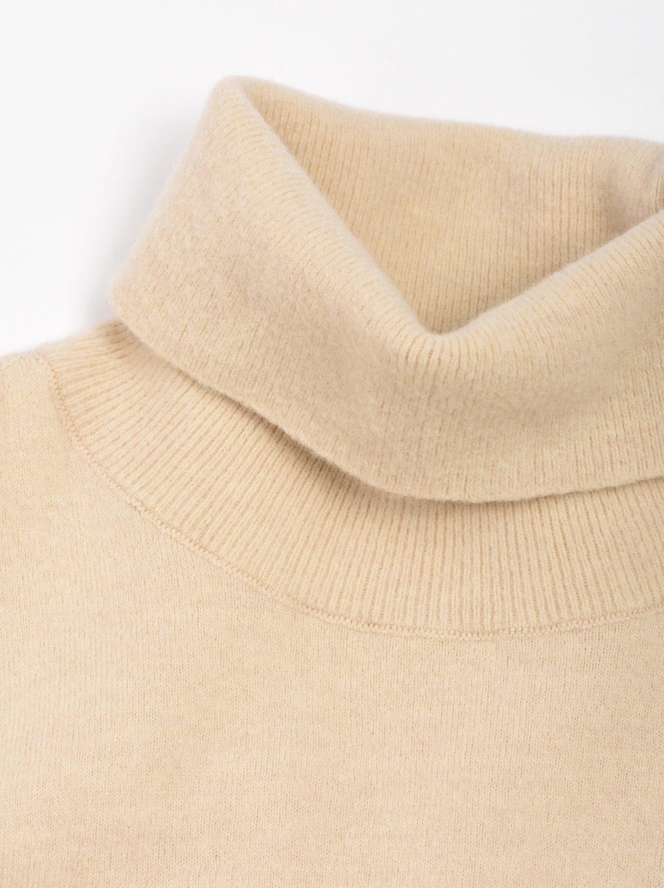 WH Boiled Wool Tenjiku Turtleneck-5