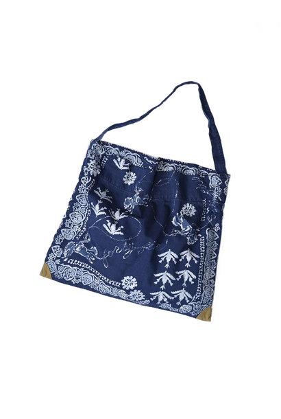 Indigo Goma Denim Cowboy Printed Bandana Bag