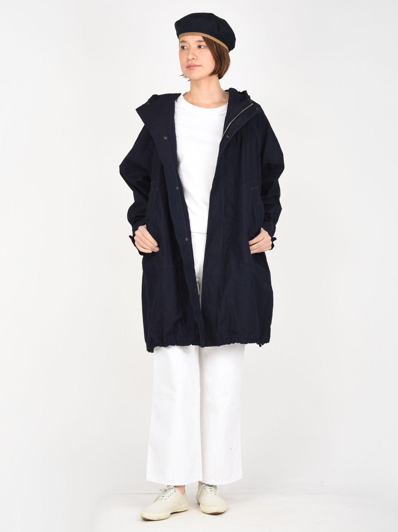 Indigo OX Snow Hoodie Coat-2