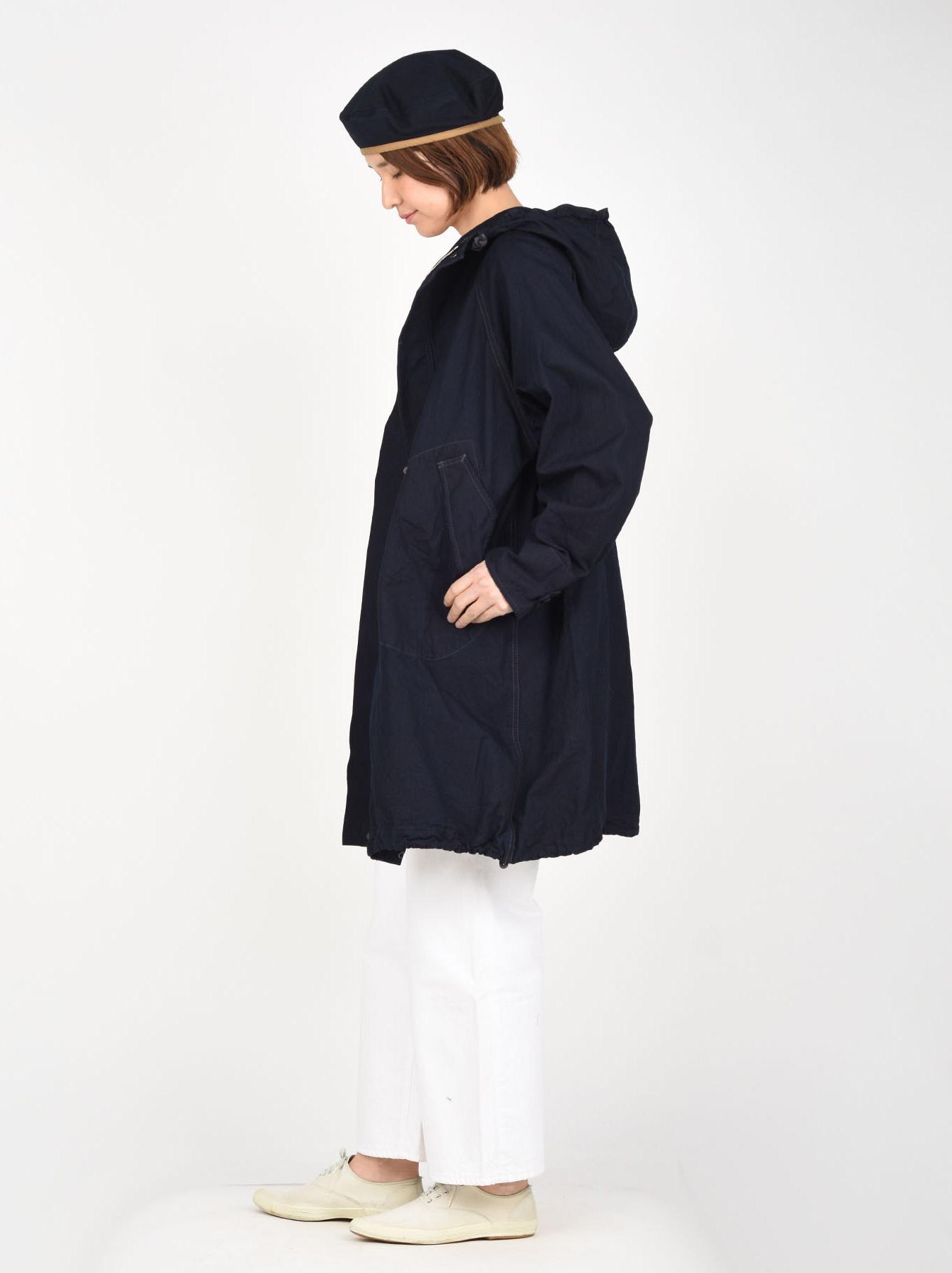 Indigo OX Snow Hoodie Coat-3