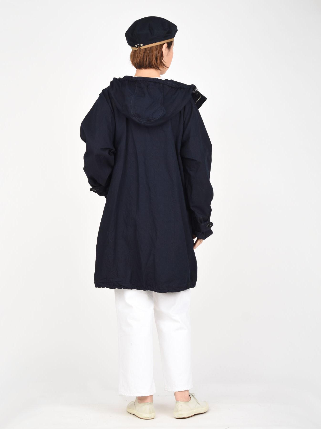 Indigo OX Snow Hoodie Coat-4